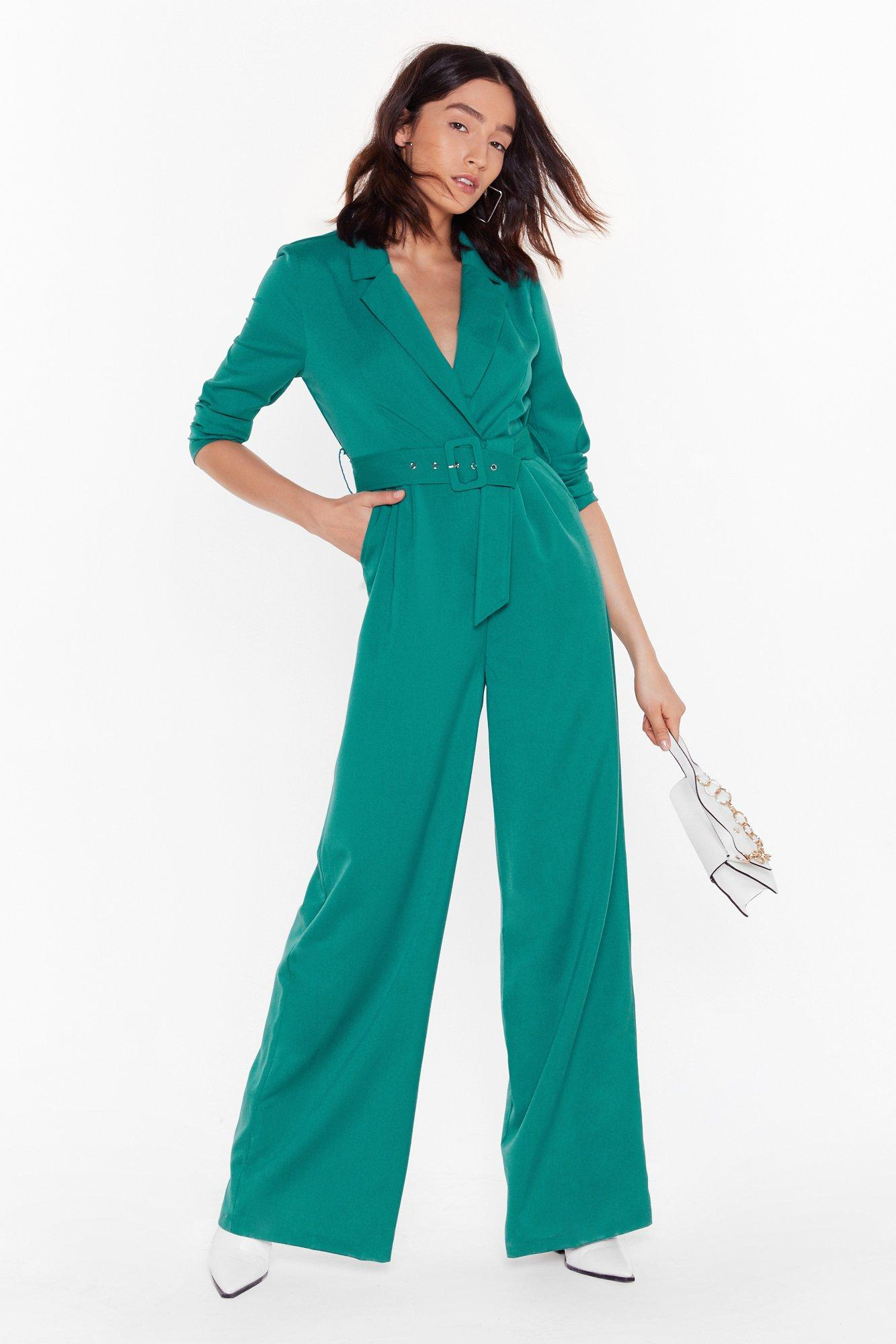Image of Time to Hustle Belted Wide-Leg Jumpsuit
