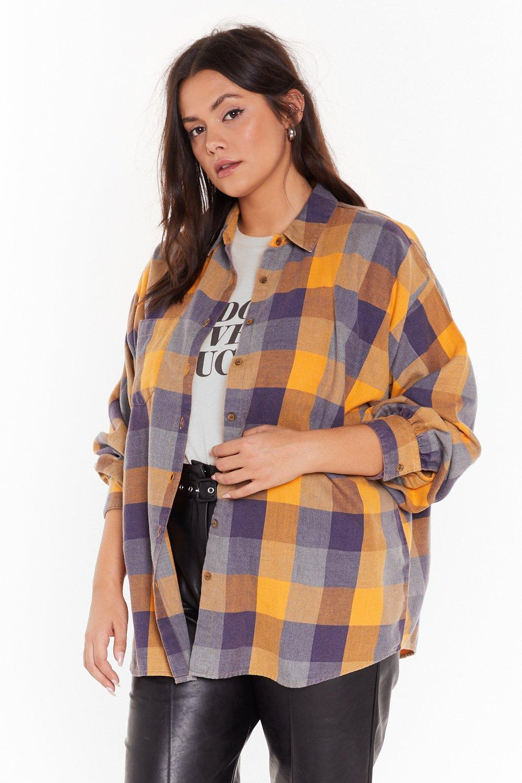 Image of Check Please Oversized Plus Shirt