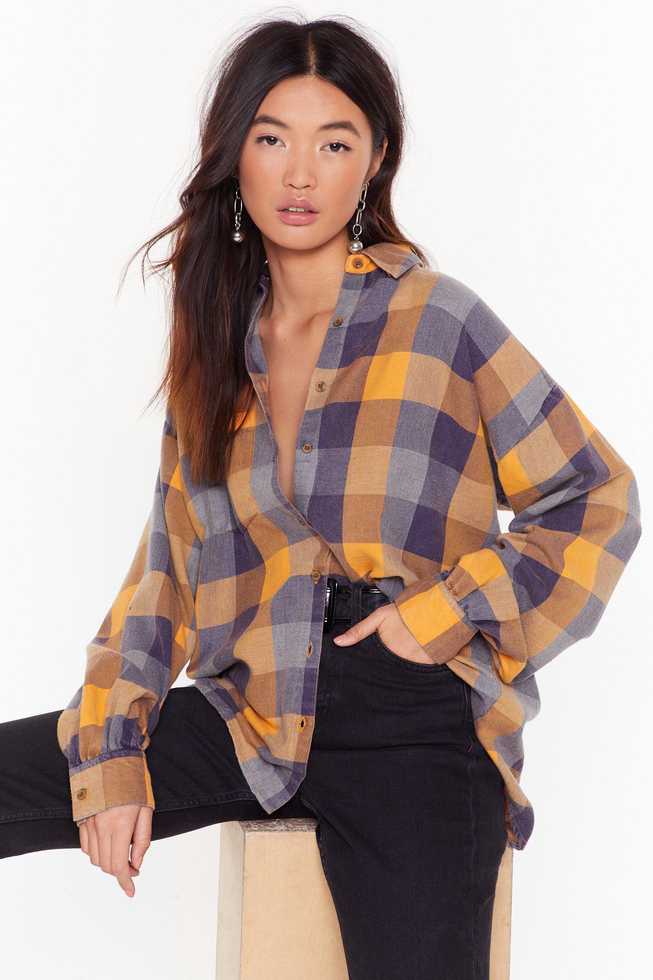Image of Check Please Oversized Shirt