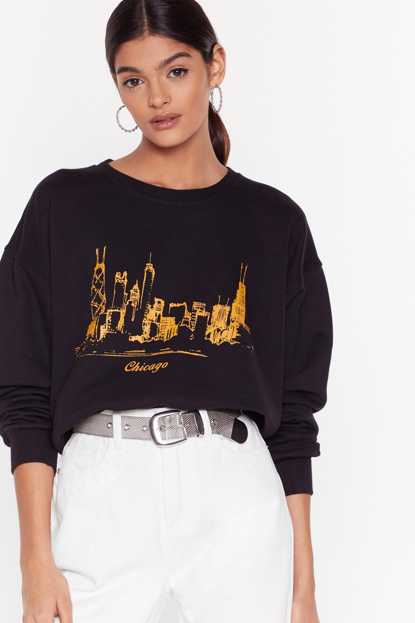 Image of Chicago is Always a Good Idea Graphic Sweatshirt