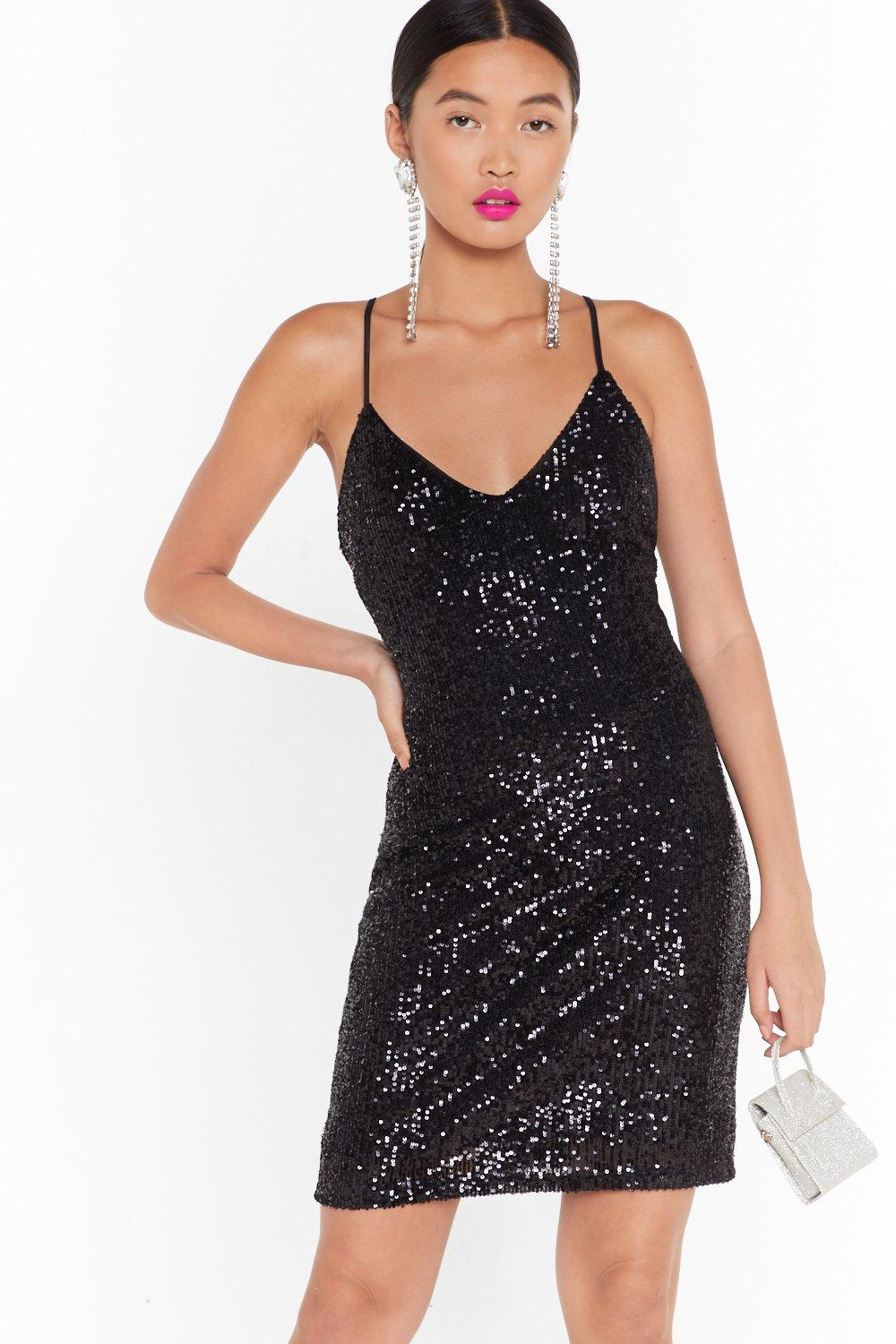 Image of Talk of the Town Sequin Mini Dress