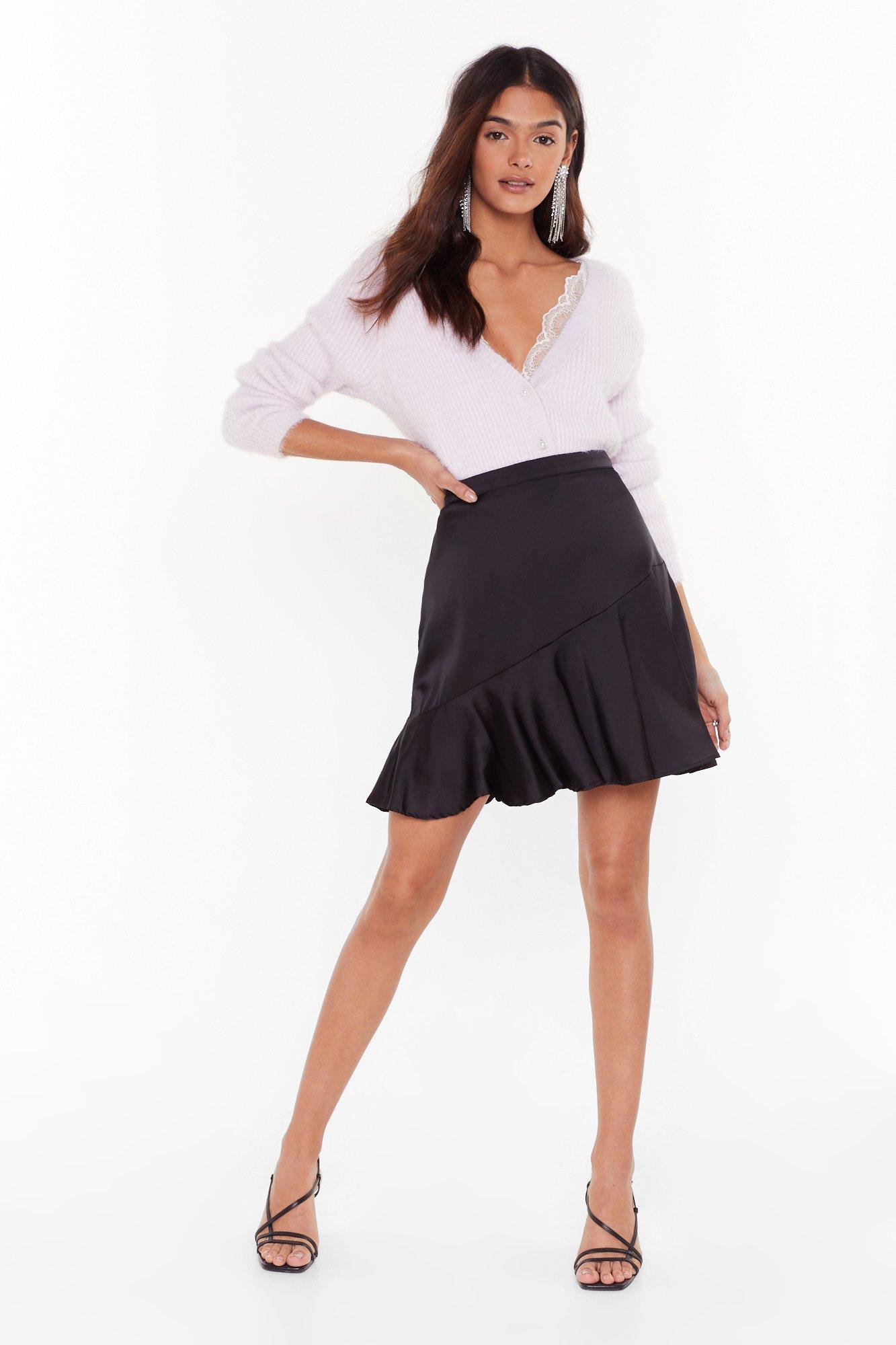 Image of Smooth Your Body Satin Mini Skirt