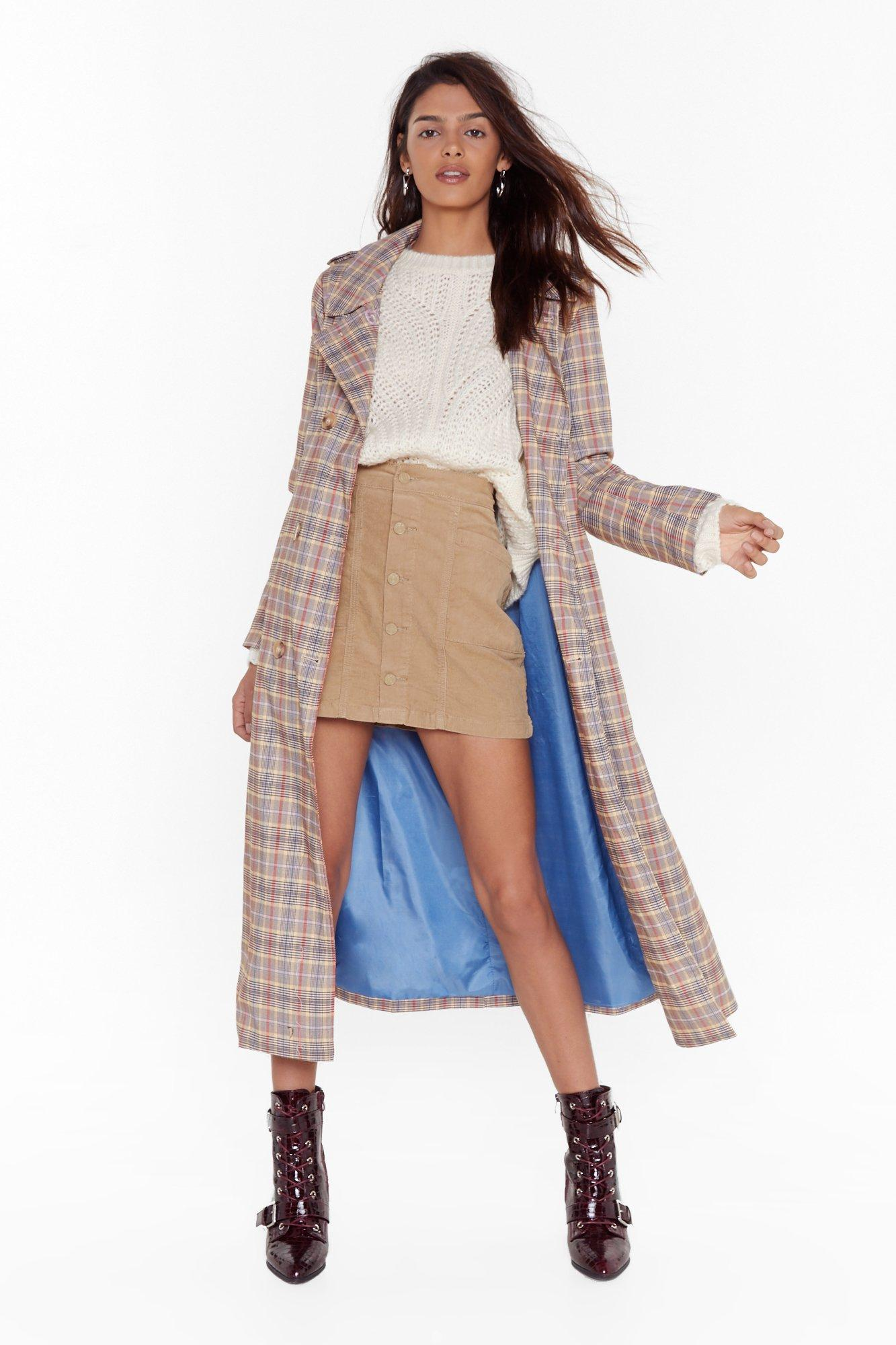 Image of One More Skirt Corduroy Mini Skirt