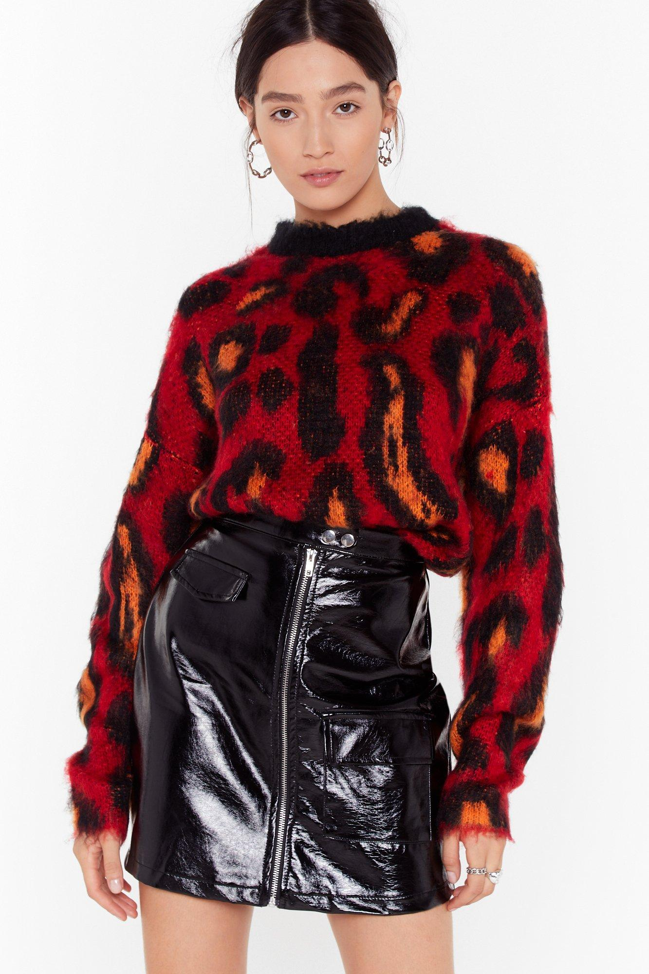 Image of Brush Up Nice Knit Leopard Sweater