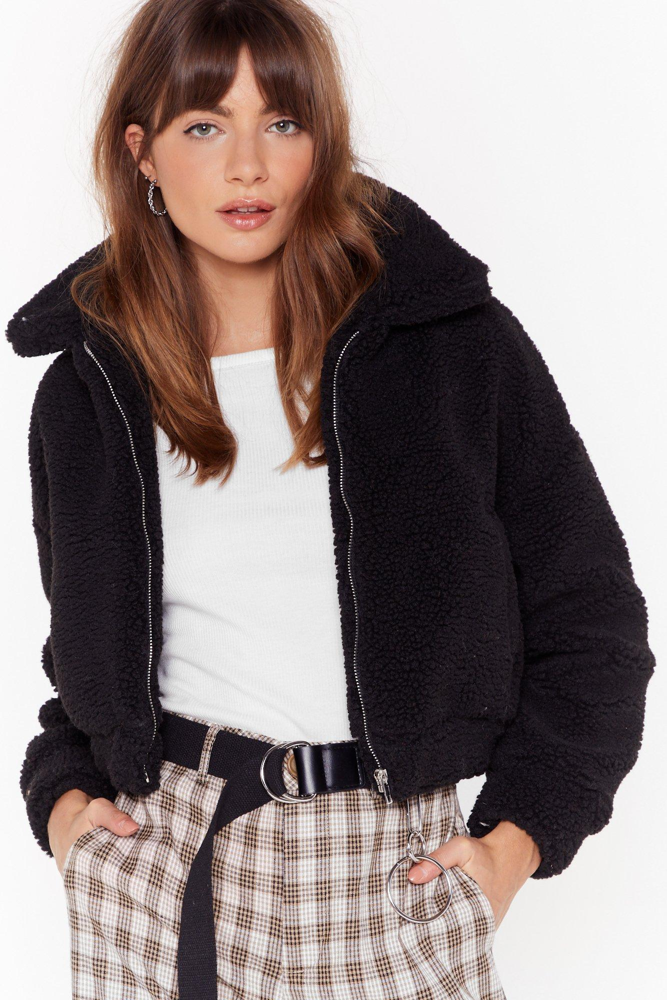 Image of Cozy Little Thing Called Love Faux Shearling Jacket