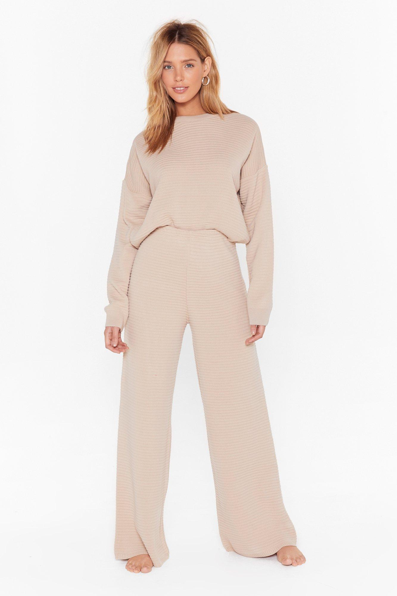Image of Came Here to Chill Sweater and Pants Lounge Set