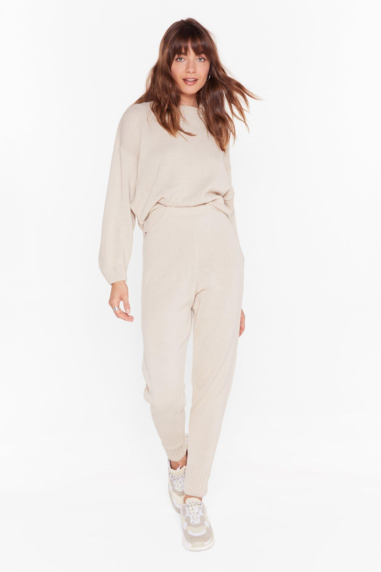Image of Lounge What I Was Looking For Knitted Sweater and Jogger Set