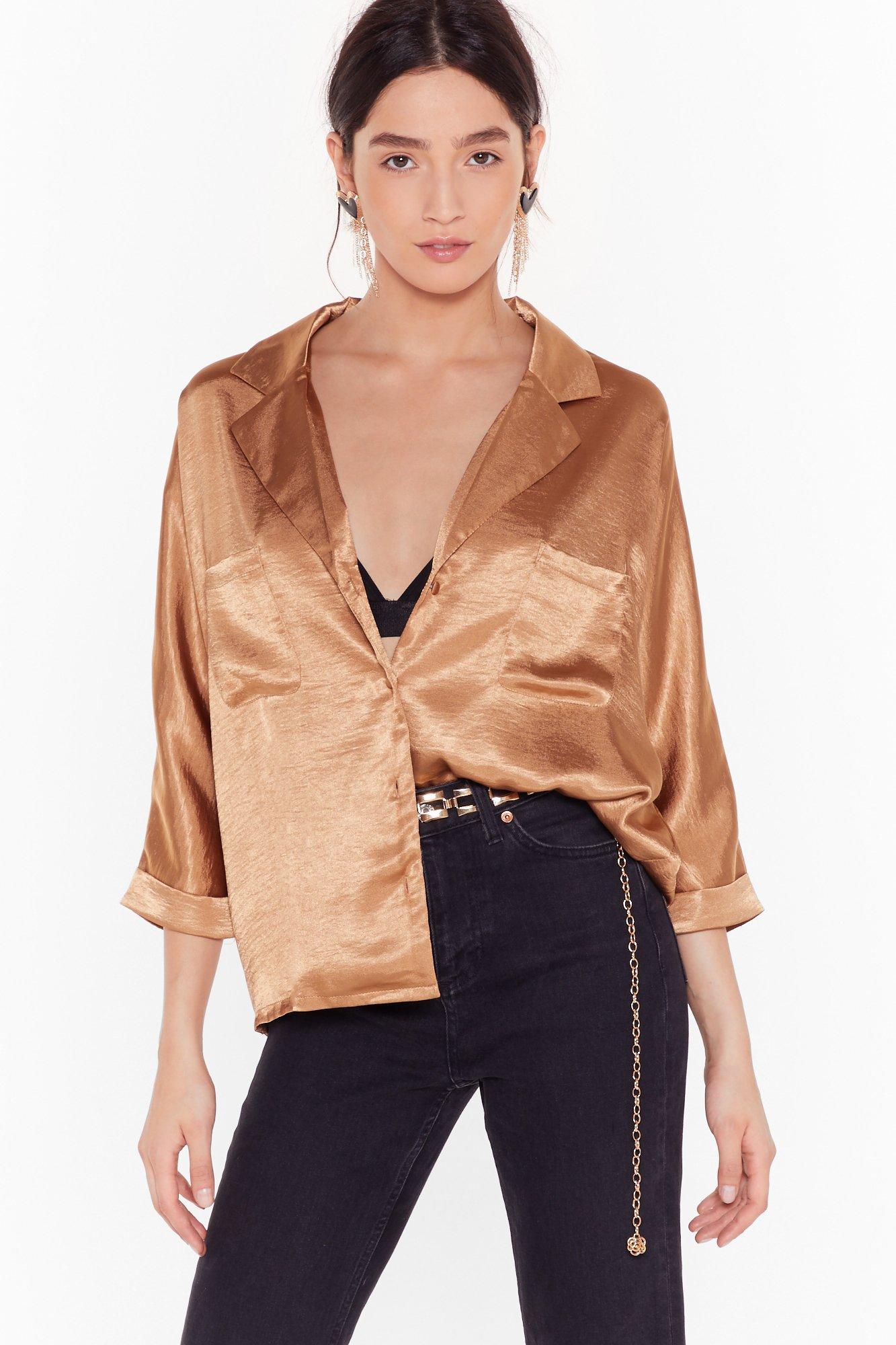 Image of Sleek to Sleek Satin Shirt