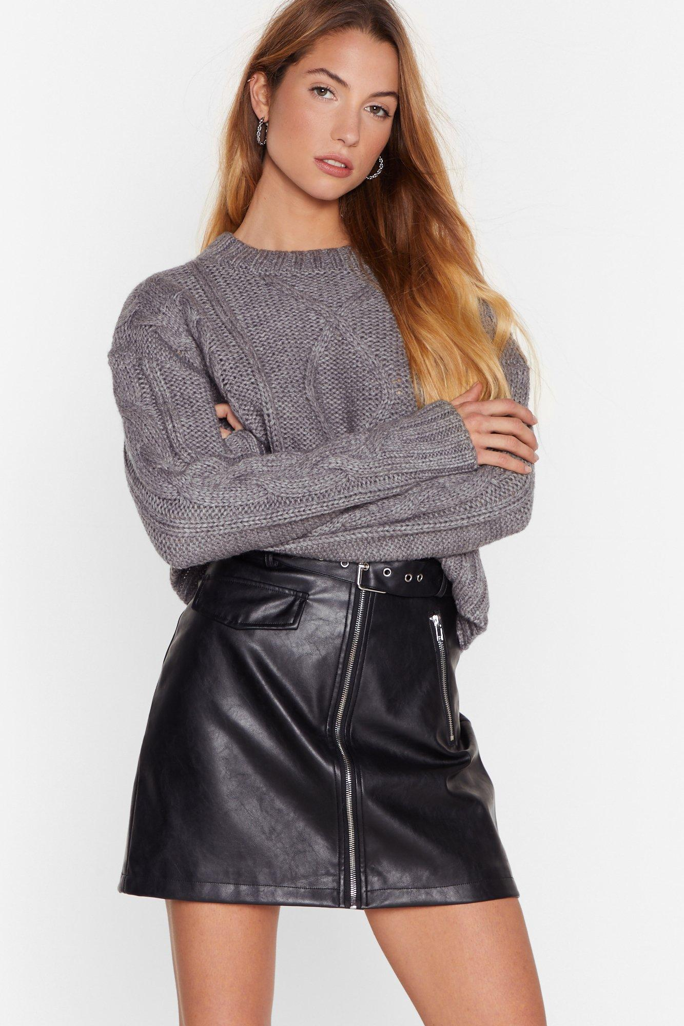 Image of Knit's Not Too Late Chunky Knit Cropped Sweater