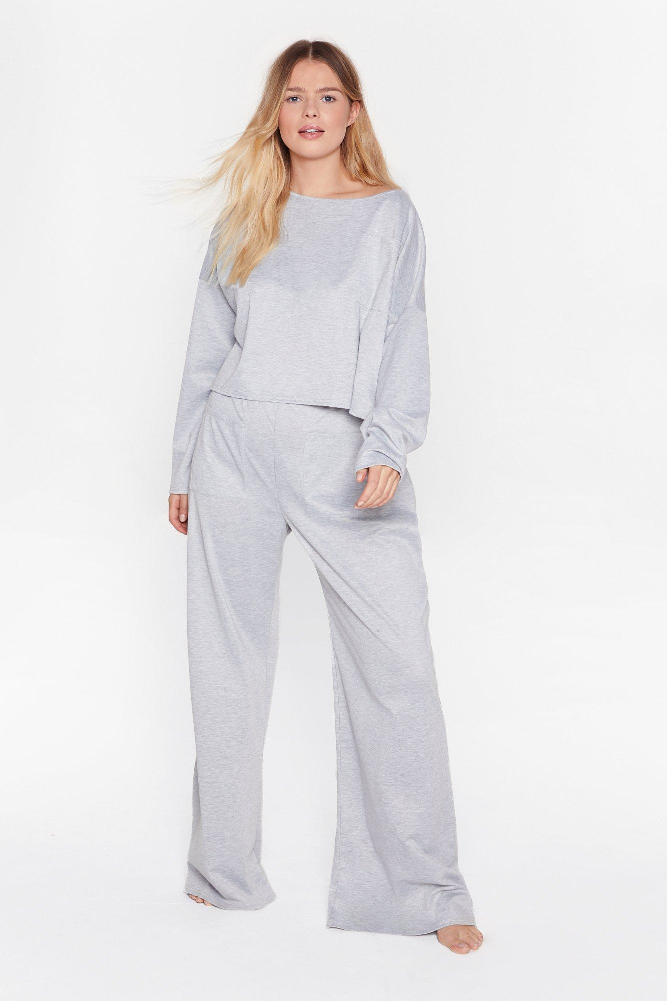Image of Call It Off-the-Shoulder Plus Pants Lounge Set
