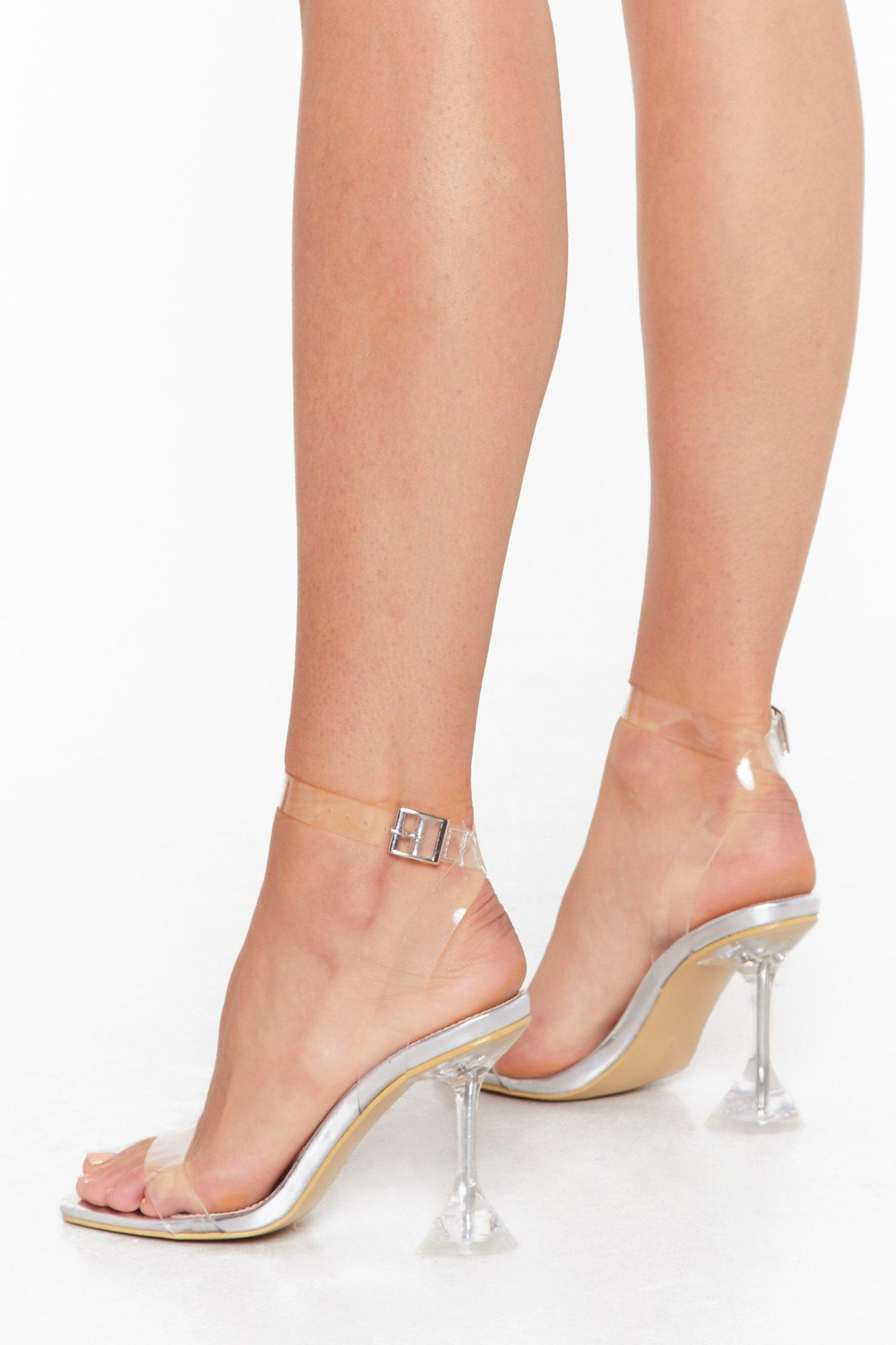 Image of It's All So Clear Now Clear Stiletto Heels