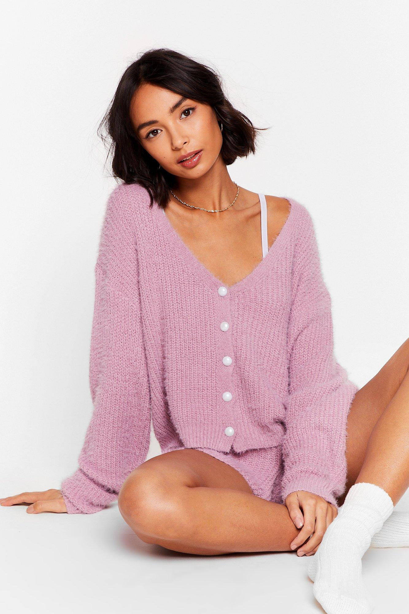 Image of What a Pearl Wants Knit Shorts Lounge Set