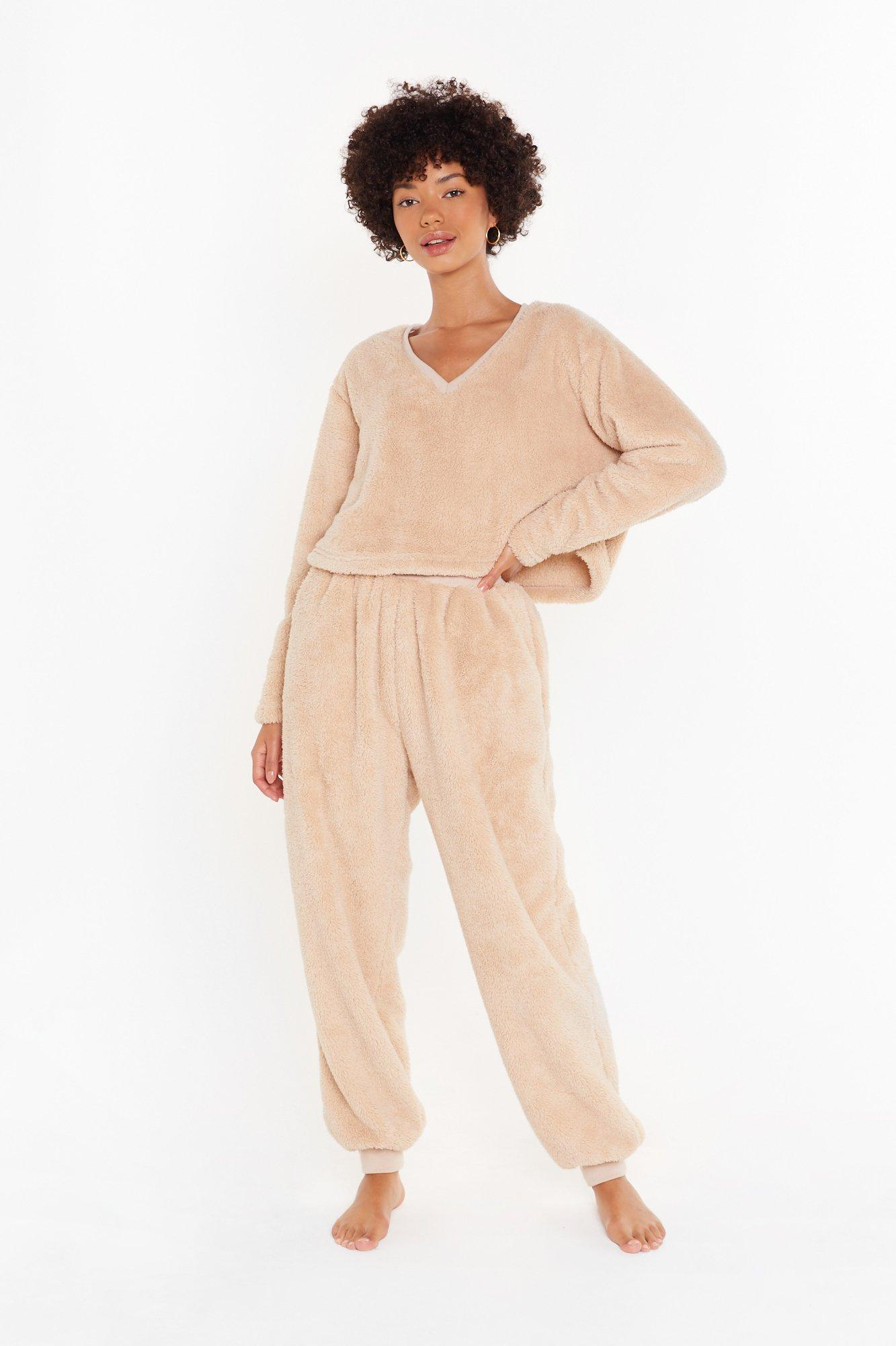 Image of Teddy For Bed Sweater and Joggers Lounge Set