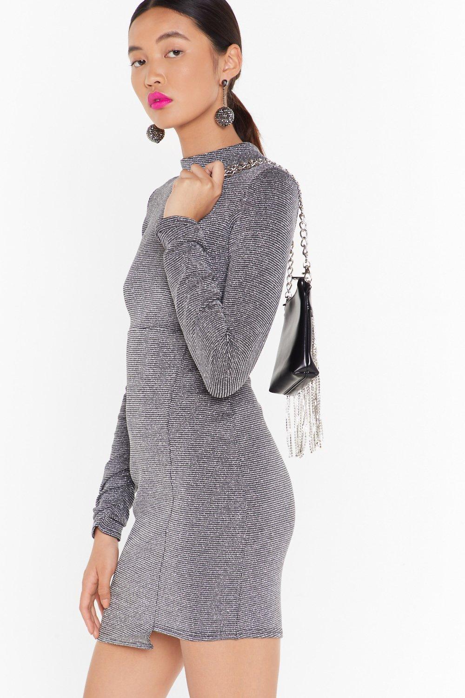 Image of The Disco Needs You Glitter Mini Dress