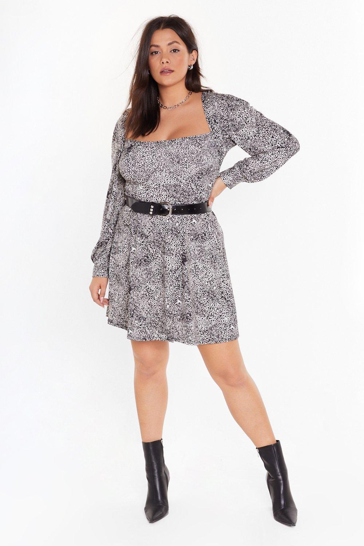Image of I Won't Square You Plus Leopard Dress