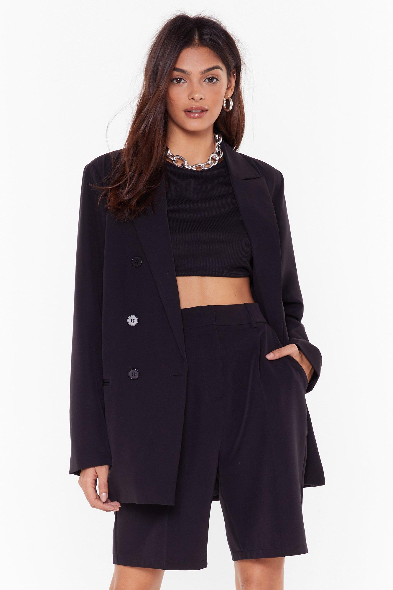 Image of Let's Talk Business Double Breasted Blazer