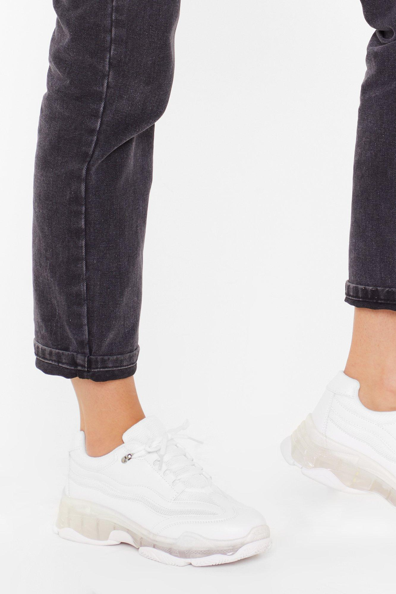 Image of Clear It Out Faux Leather Sneakers