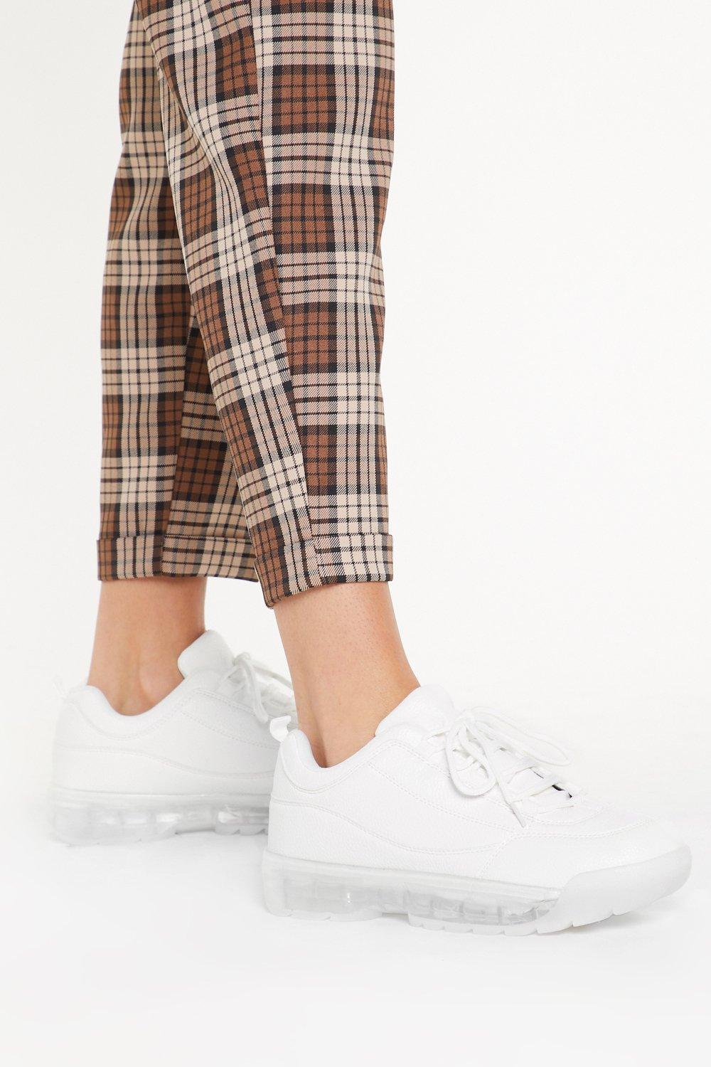 Image of Clear Your Mind Faux Leather Sneakers