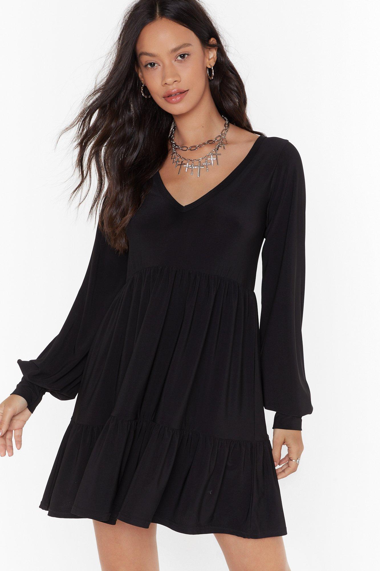 Image of Smock It Off Pleated Mini Dress
