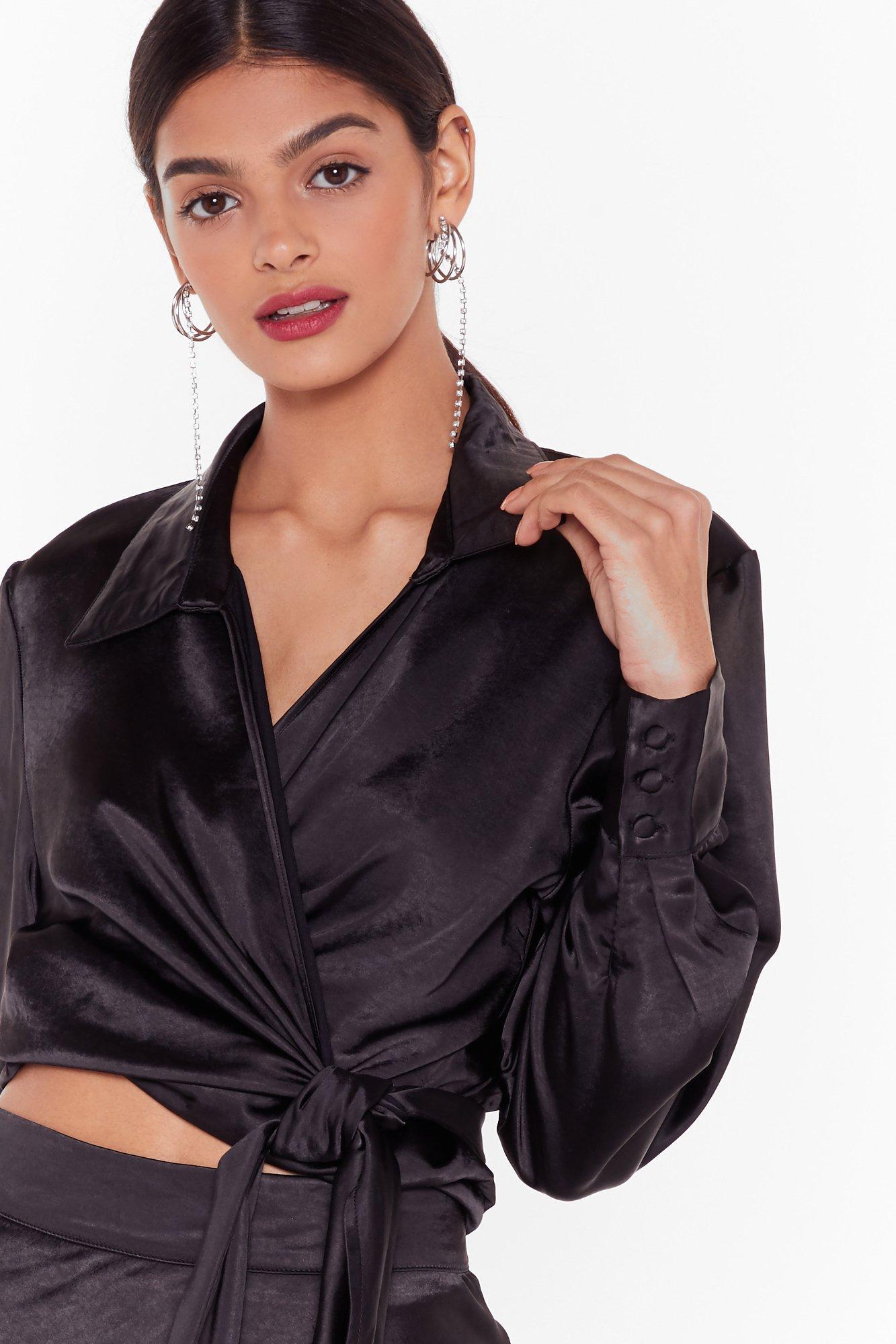 Image of Nasty Gal Studio Sleek for You Satin Shirt