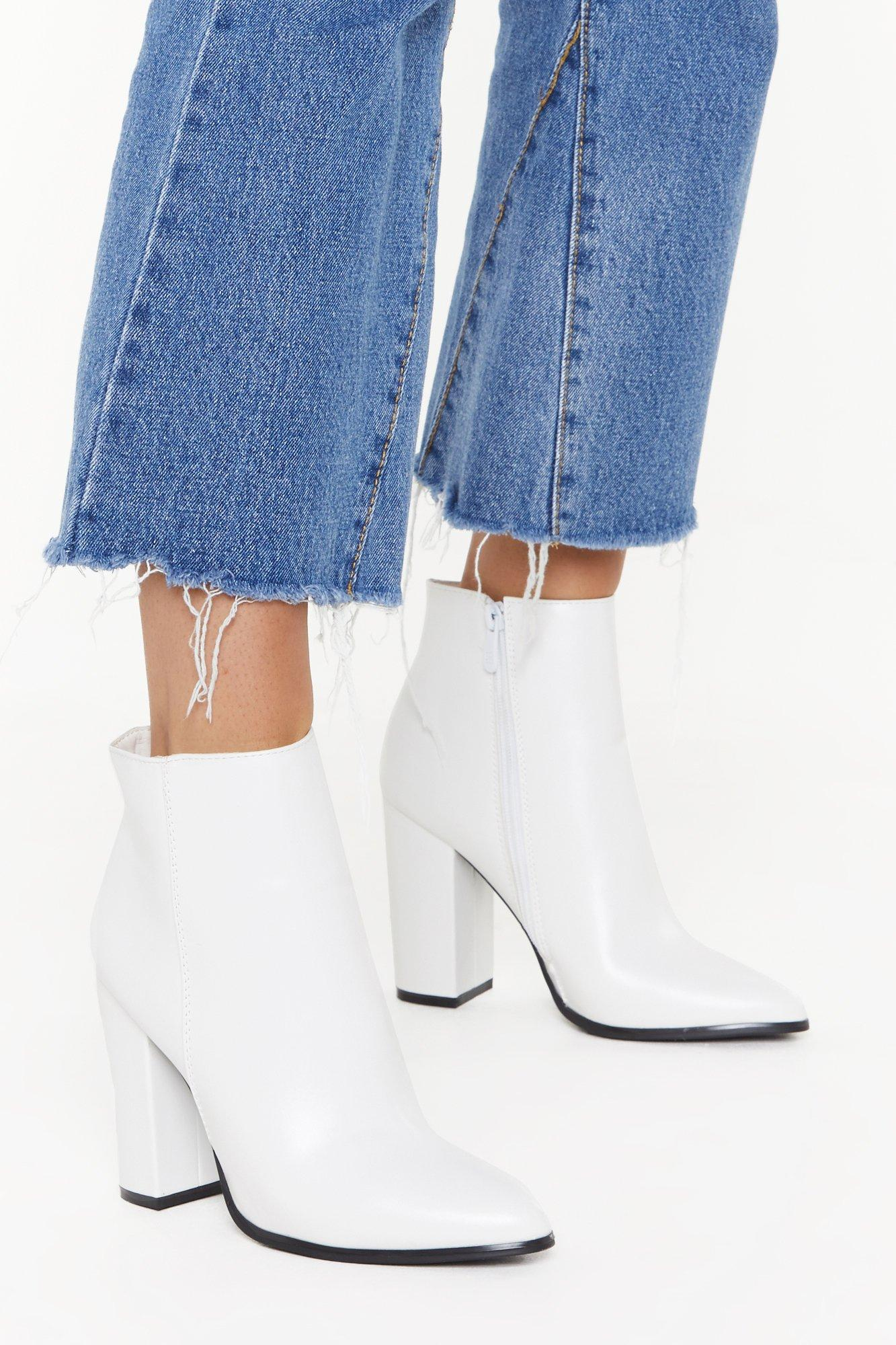 Image of PU Heeled Ankle Boots
