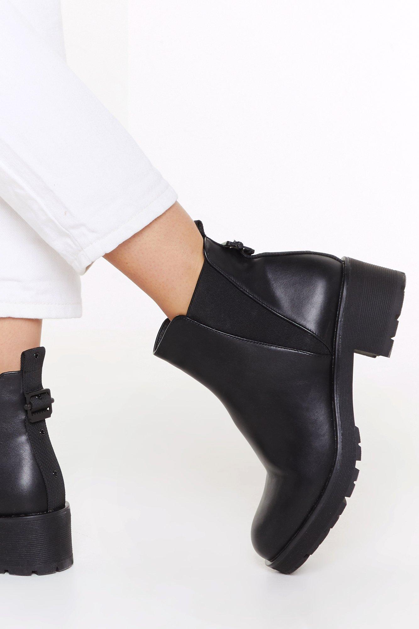 Image of V Gusset Cleated Chelsea Boot