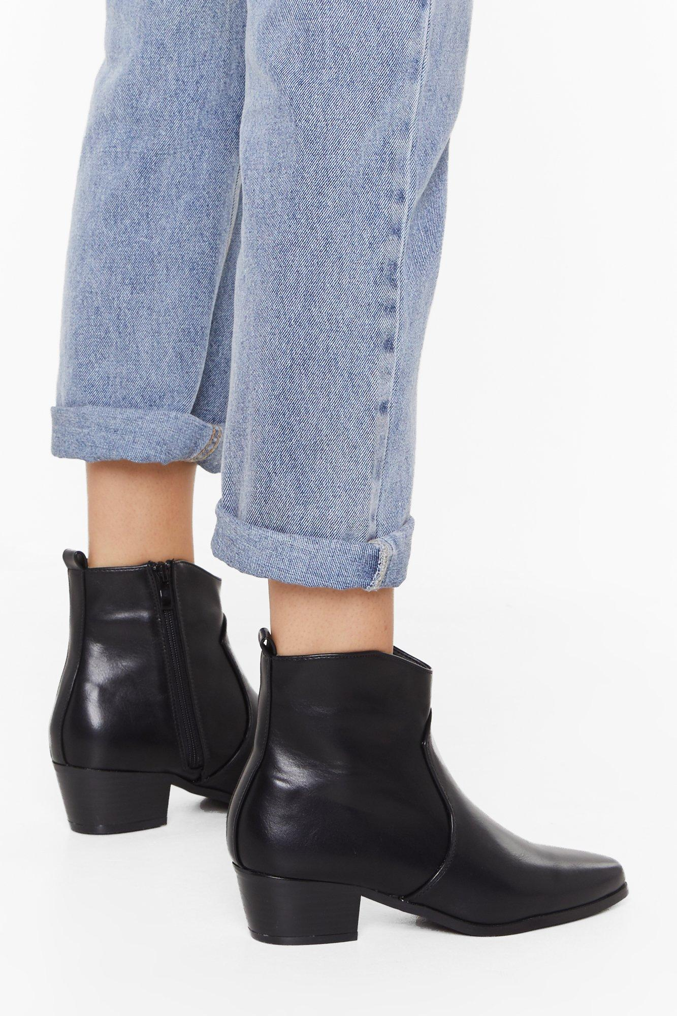 Image of Walk This Way Faux Leather Boots