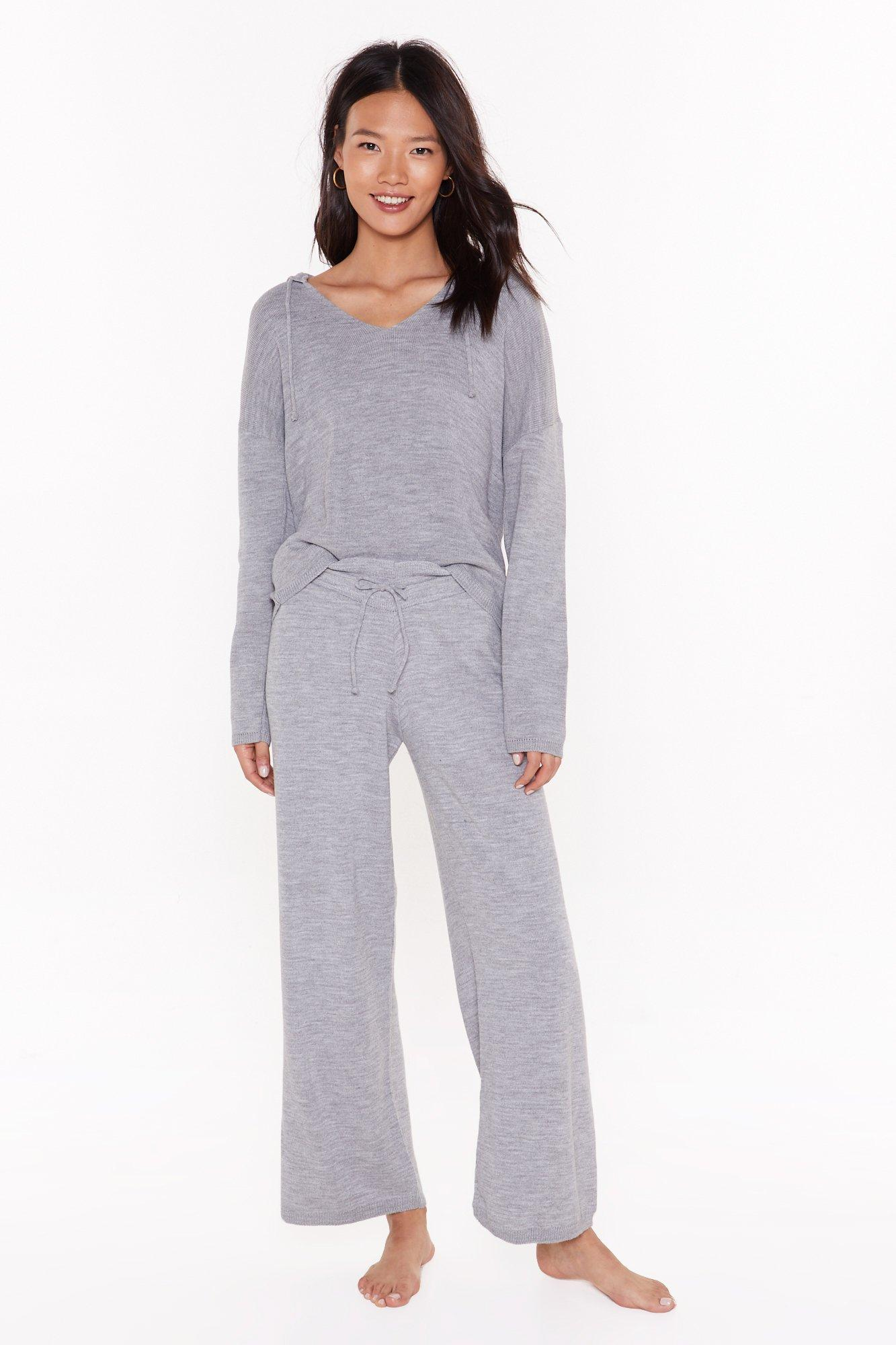 Image of By Your Side Hoodie and Wide-Leg Pants Lounge Set