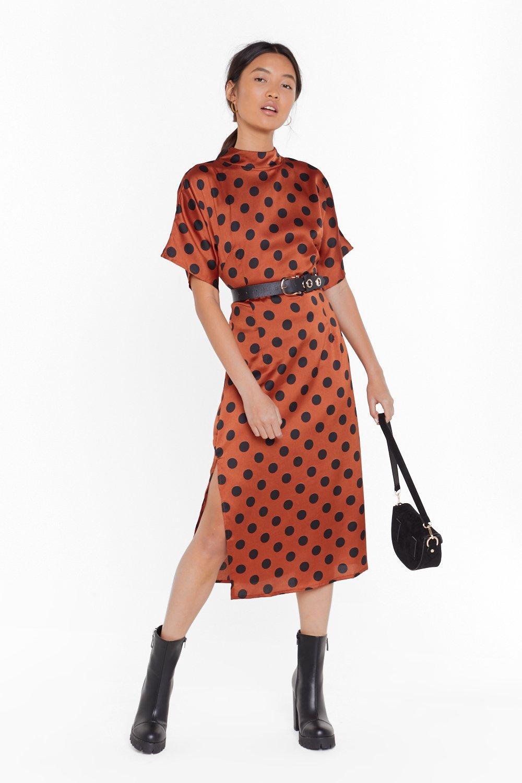 Image of Feeling Fine Polka Dot Midi Dress
