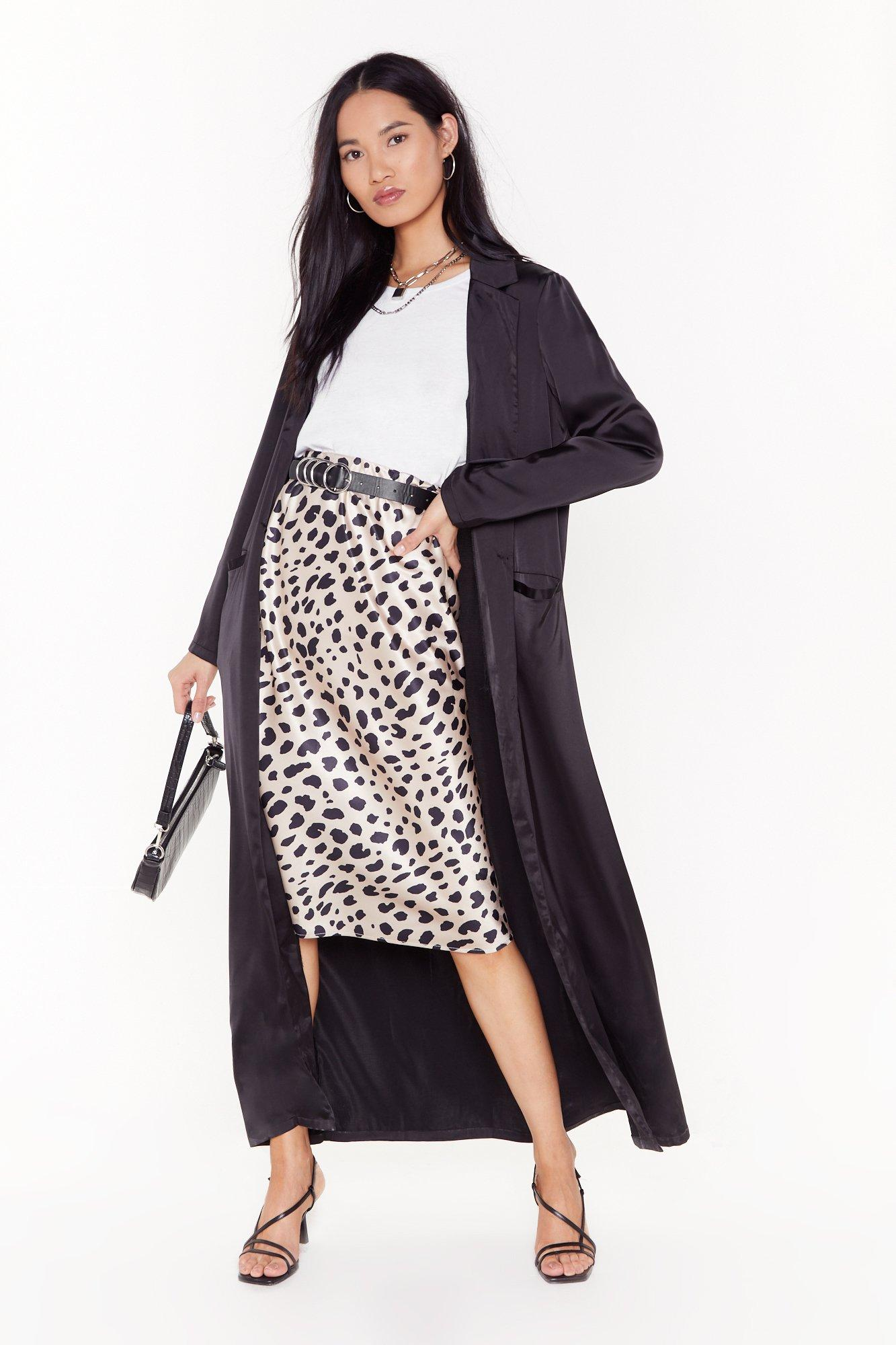 Image of satin duster coat