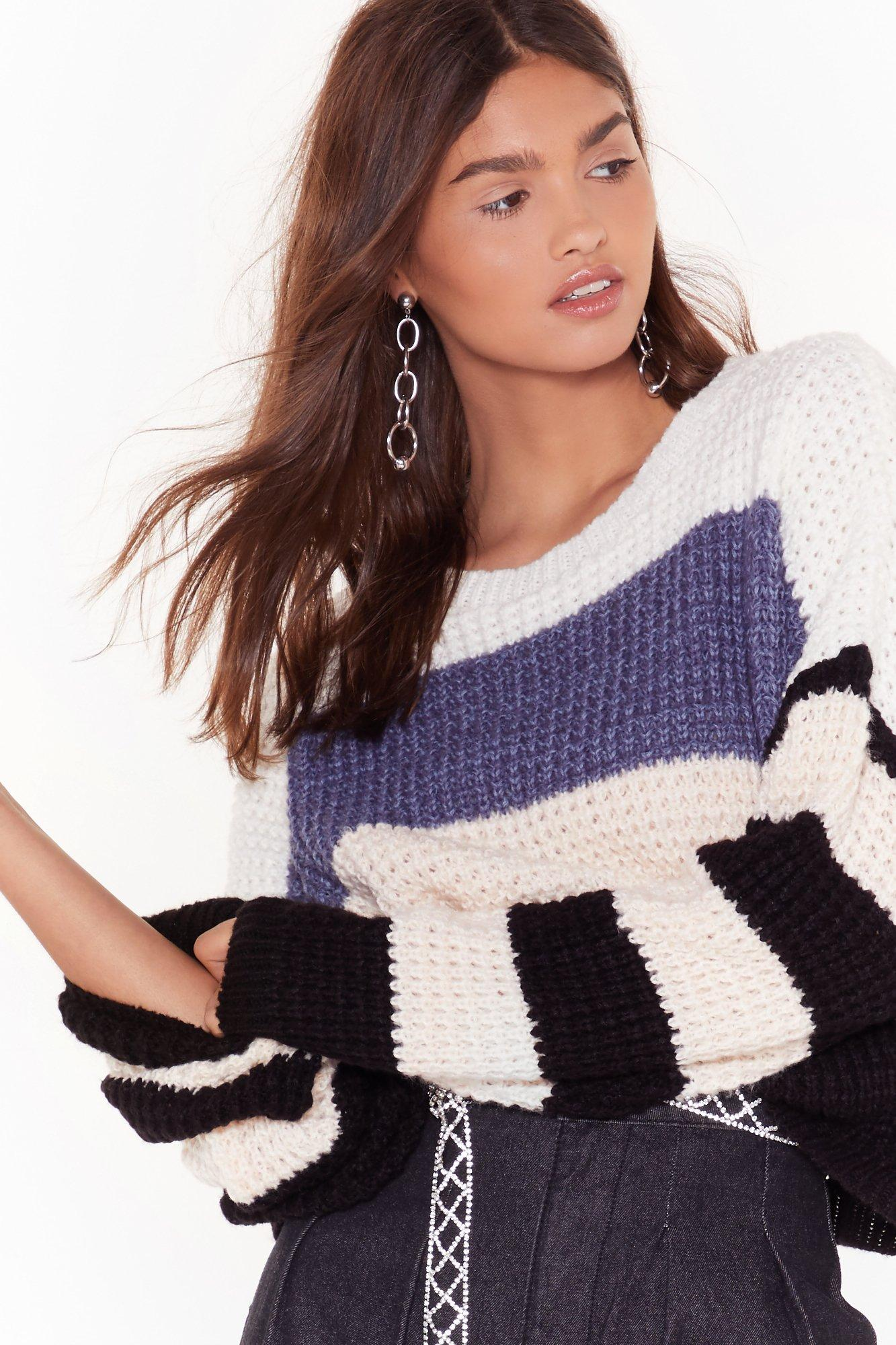 Image of All Day All Stripe Knitted Sweater