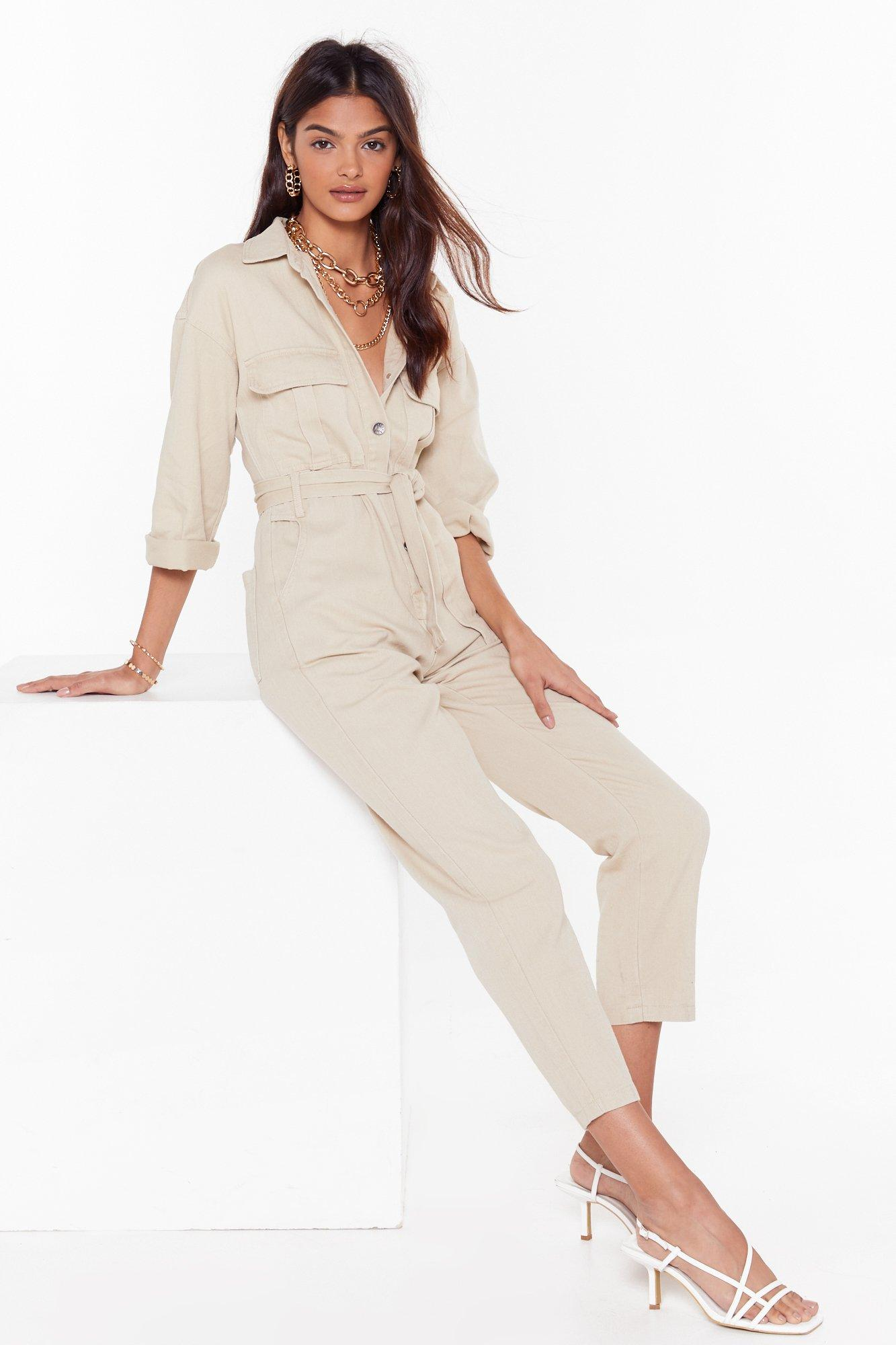 Image of All in a Day's Work Denim Boilersuit