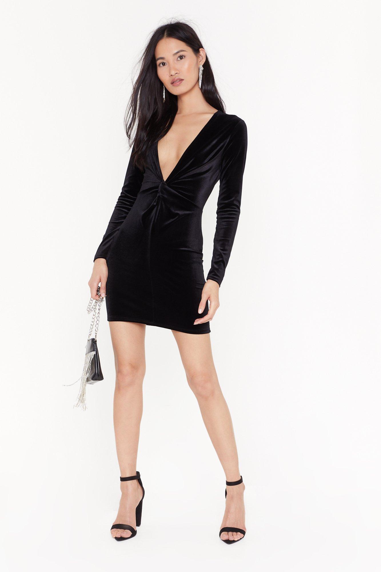 Image of V There Soon Velvet Mini Dress