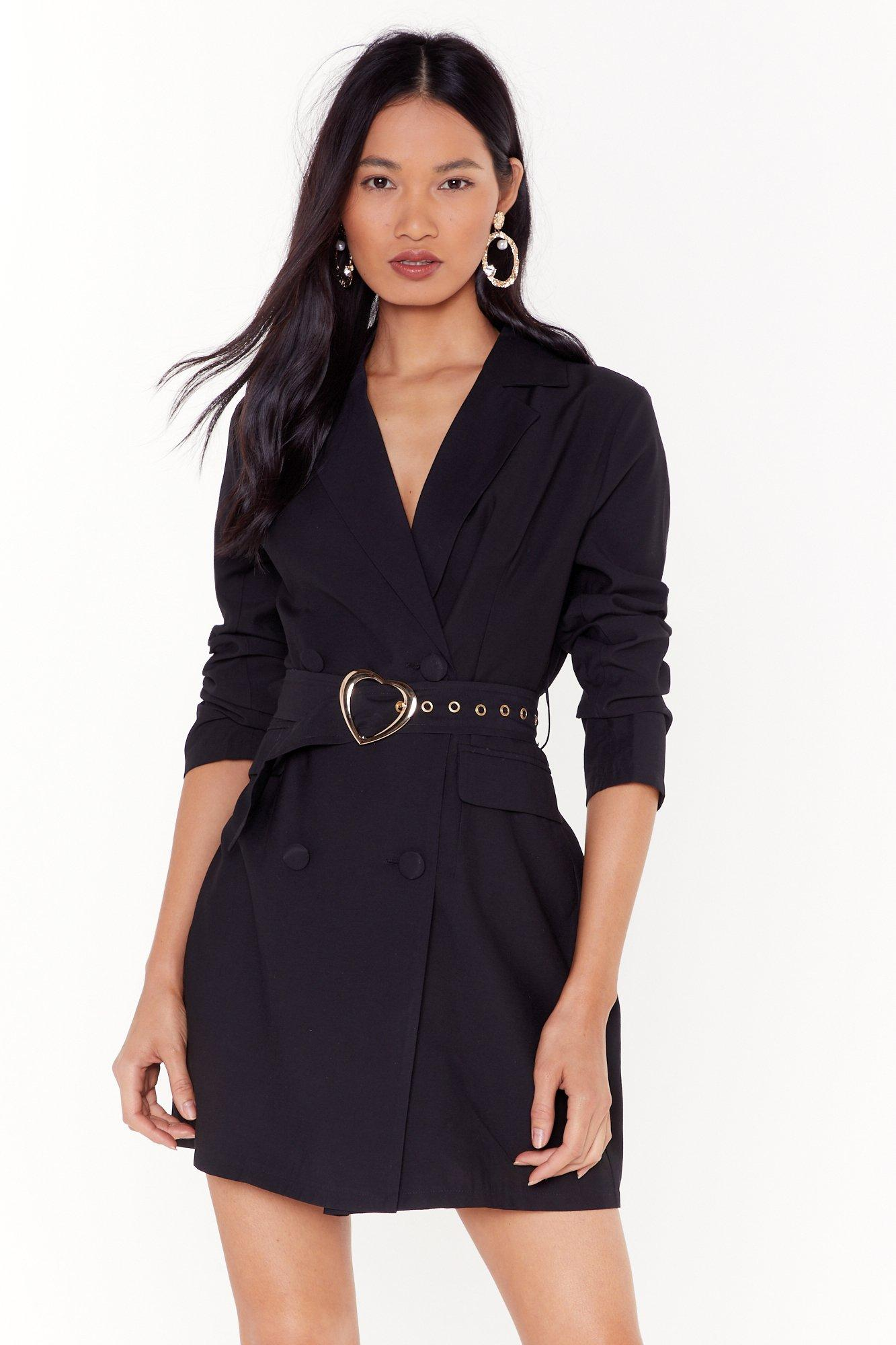 Image of All My Heart Belted Blazer Dress