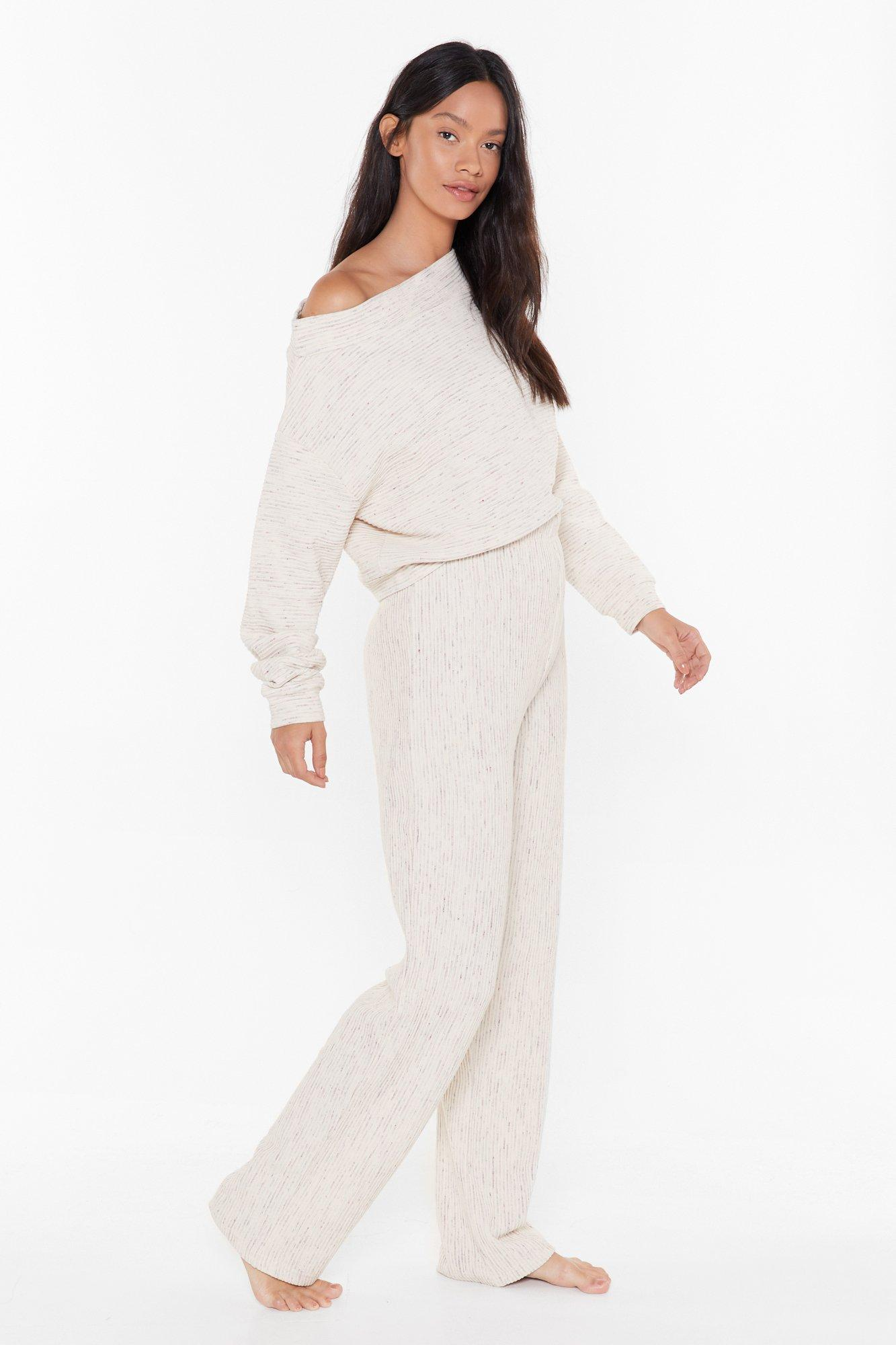 Image of Chill Seeker Slouch Sweater and Pants Lounge Set
