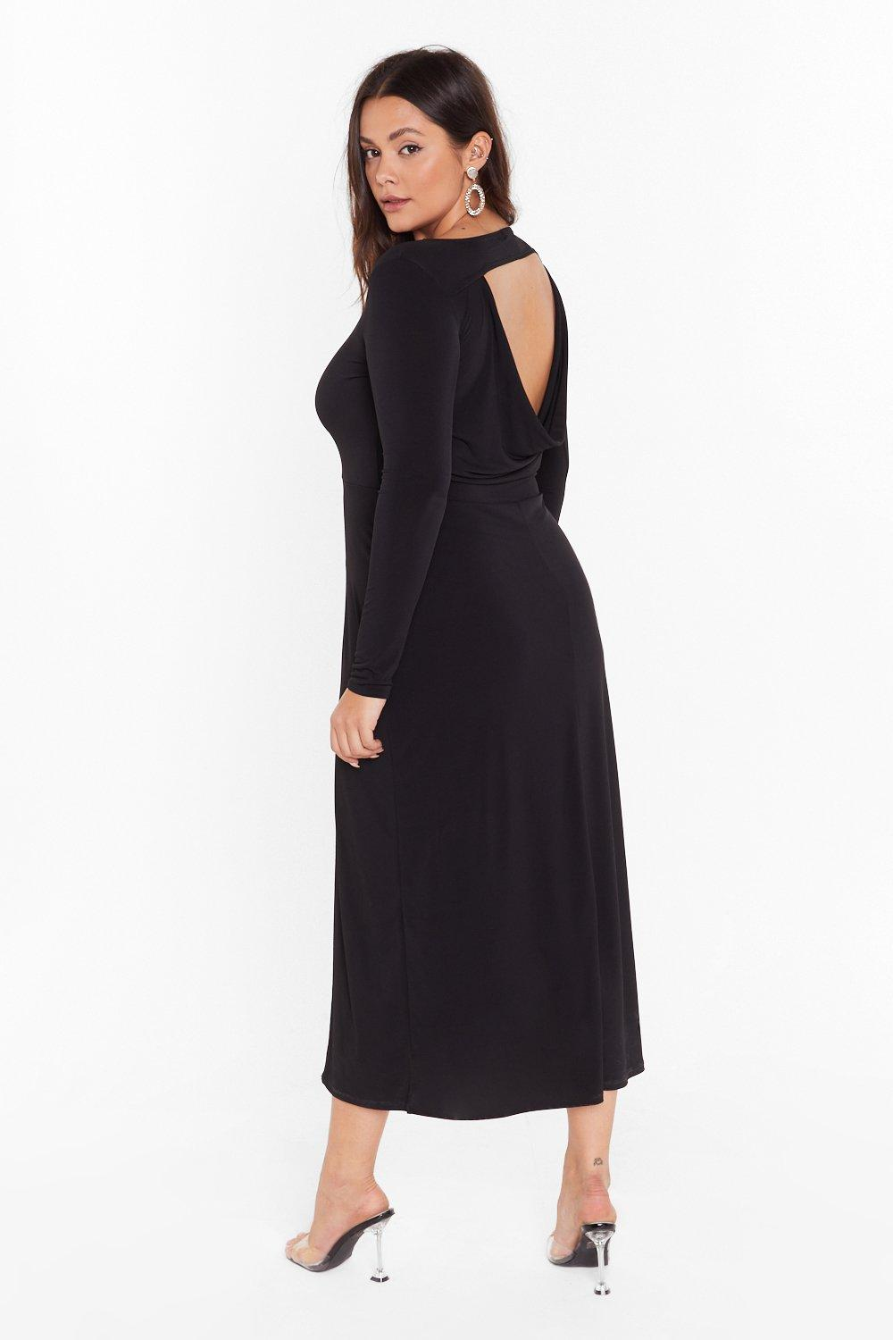 Image of Cowl You Back Later Plus Midi Dress