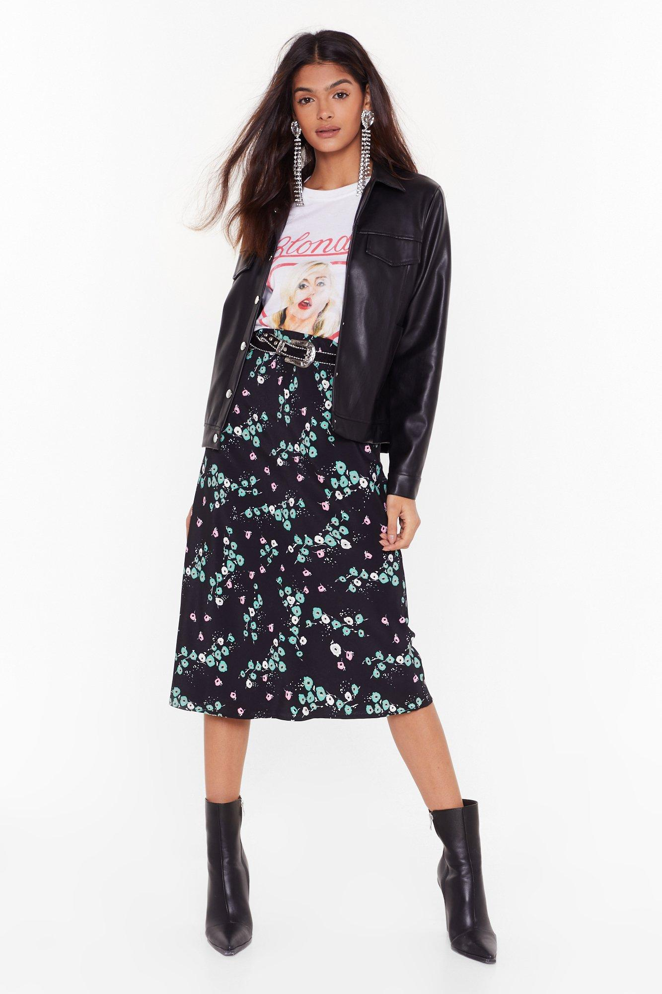 Image of Bud of Been There Floral Midi Skirt
