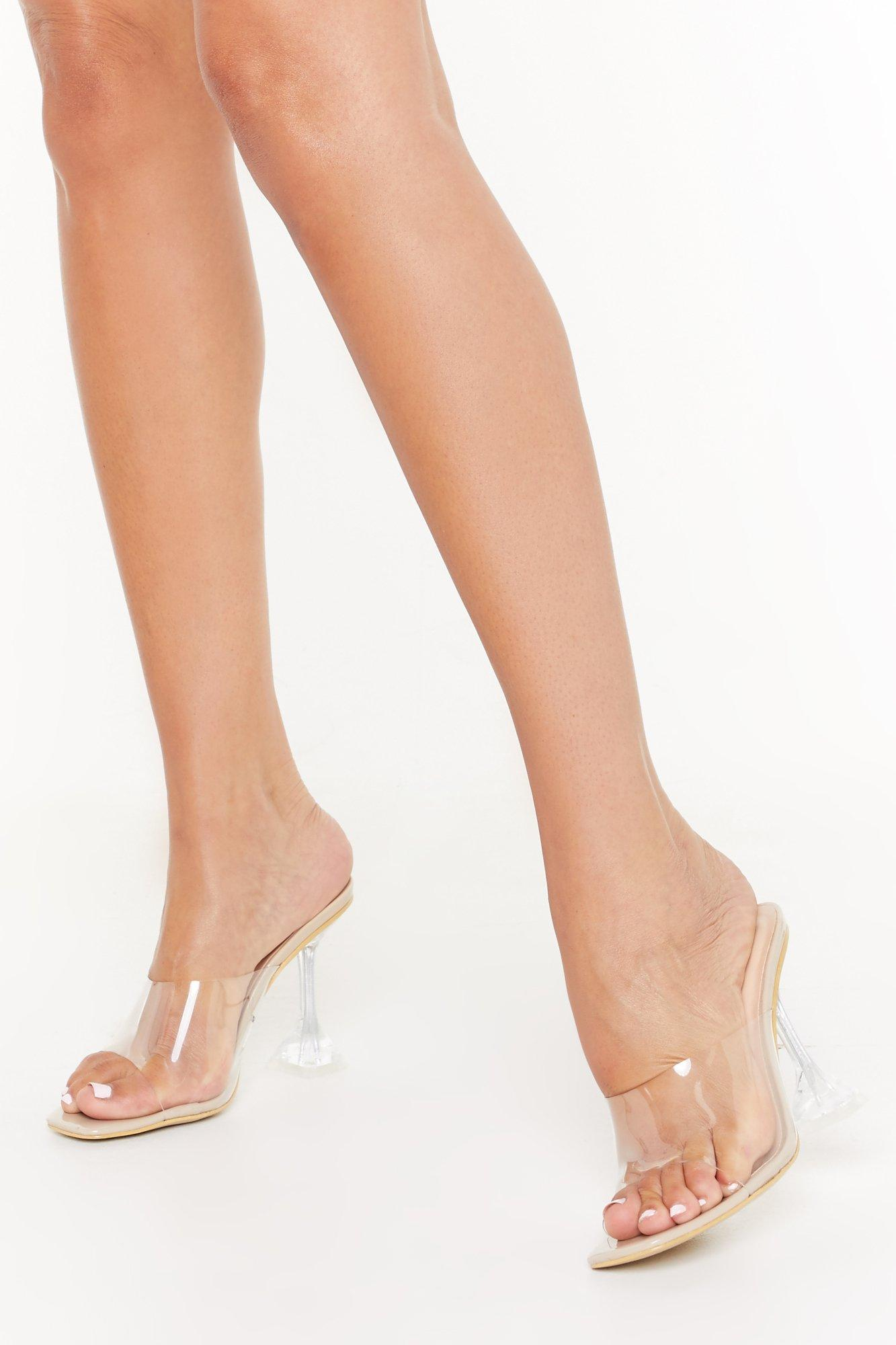 Image of Crystal Clear Stiletto Mules