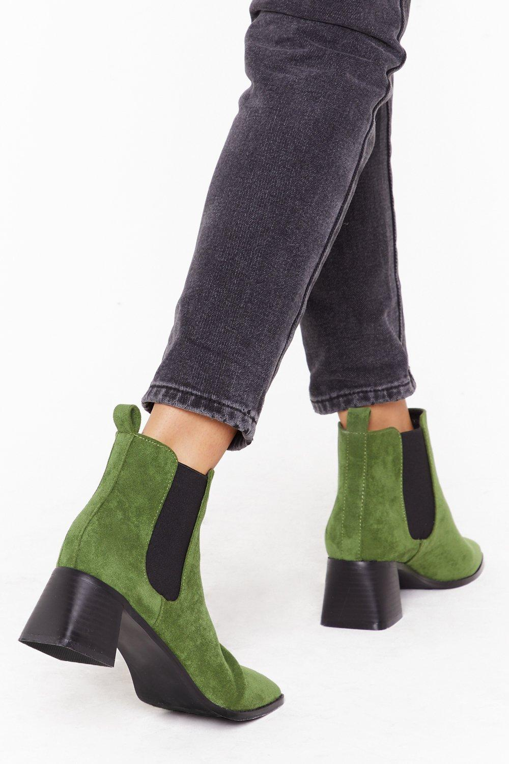 Image of Suede Your Move Faux Suede Chelsea Boots
