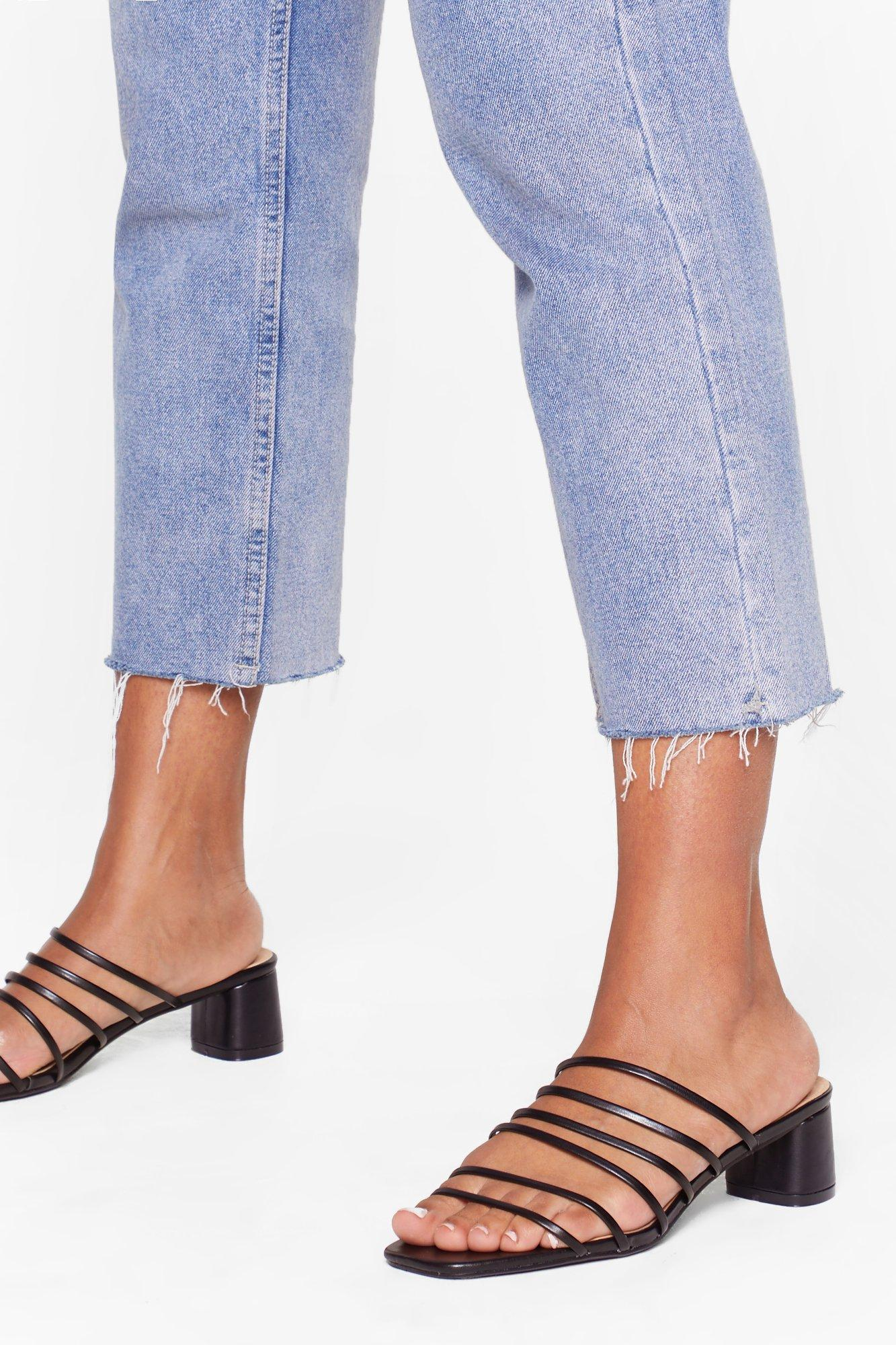 Image of Strap Out of It Faux Leather Mules