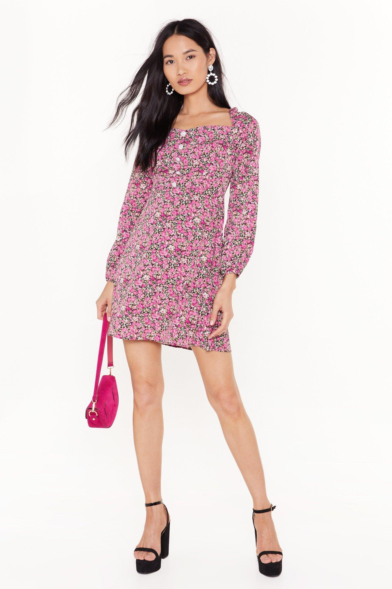 Image of Plant Pin Me Down Floral Mini Dress
