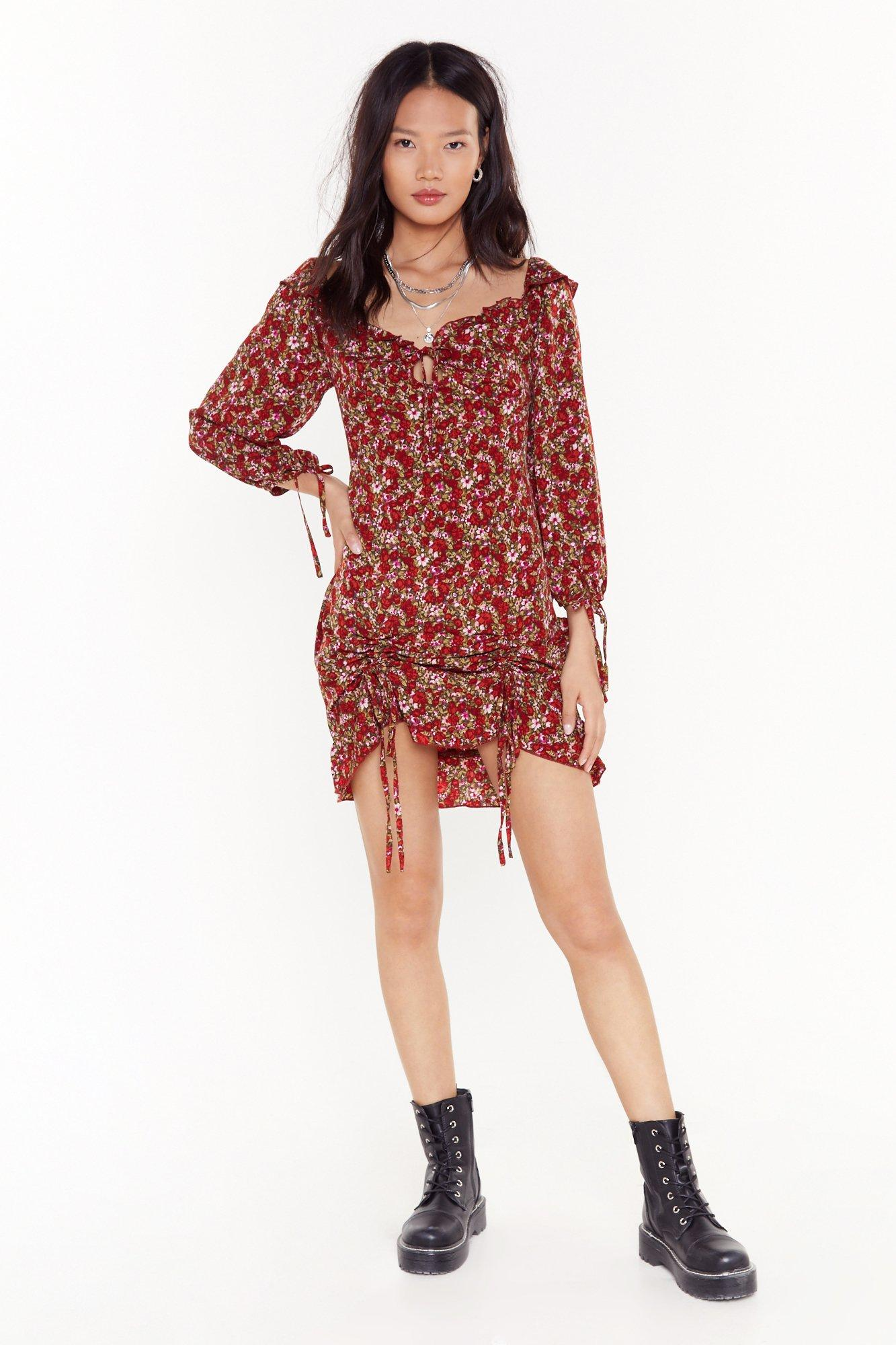 Image of Plant Live Without You Floral Mini Dress