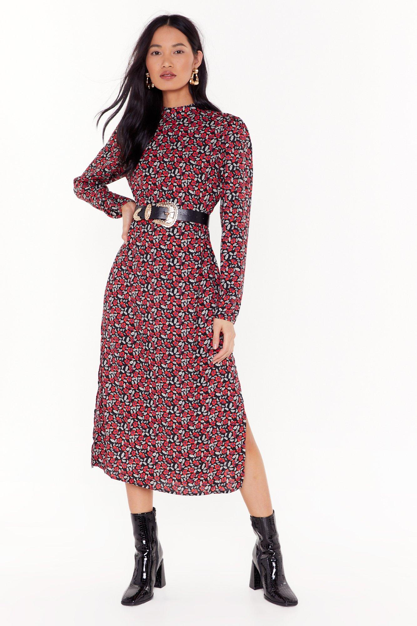 Image of That Bud be Us Floral Midi Dress