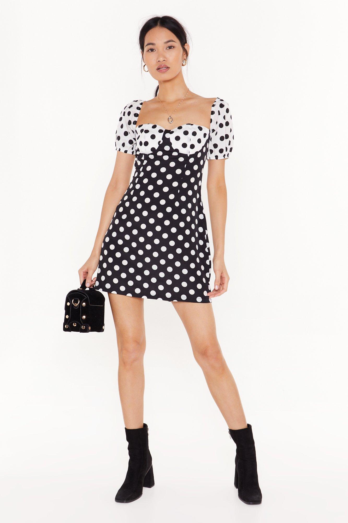 Image of It's Dot Cup to You Polka Dot Mini Dress