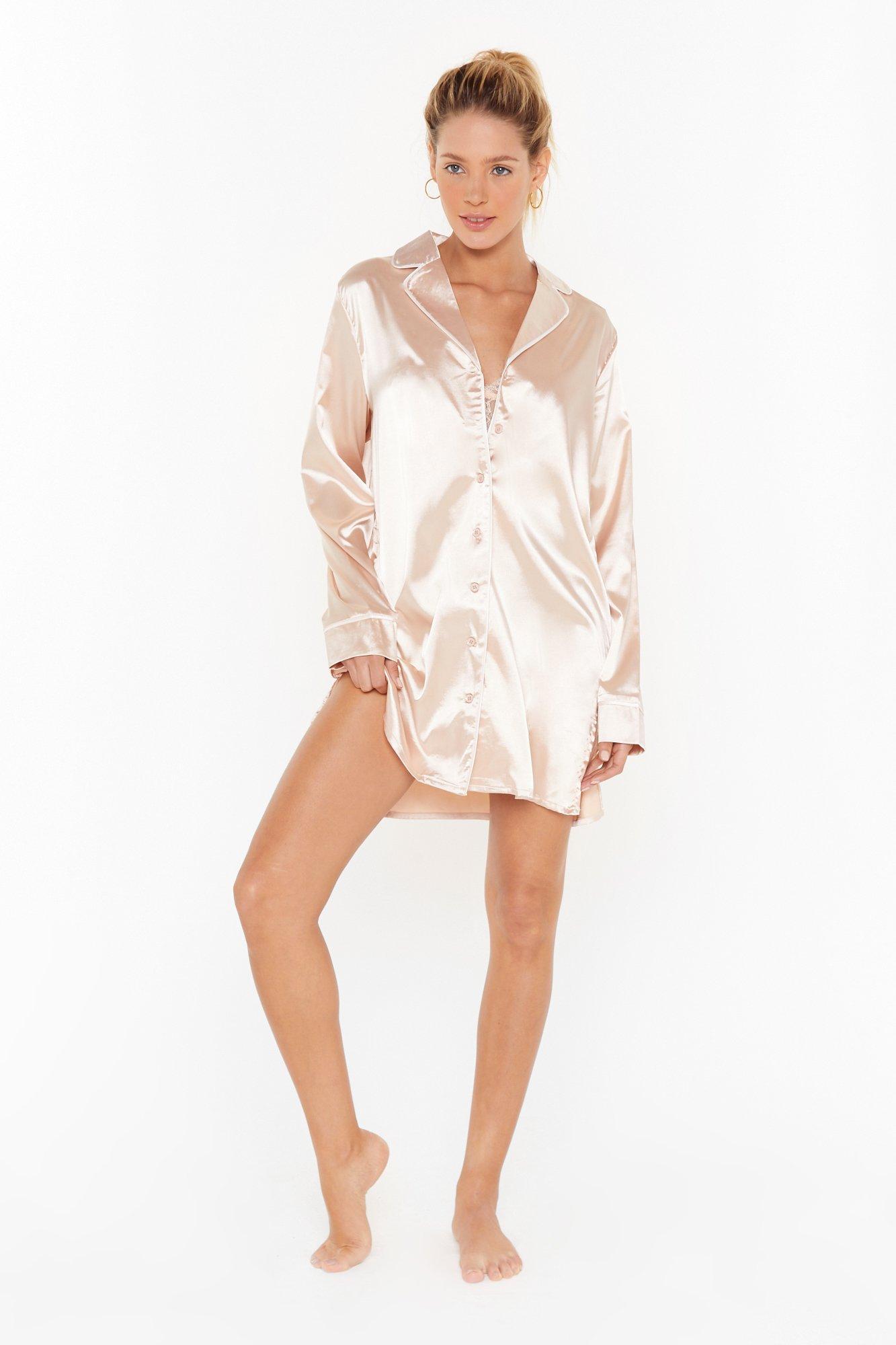 Image of I Have a Dream Satin Pajama Shirt