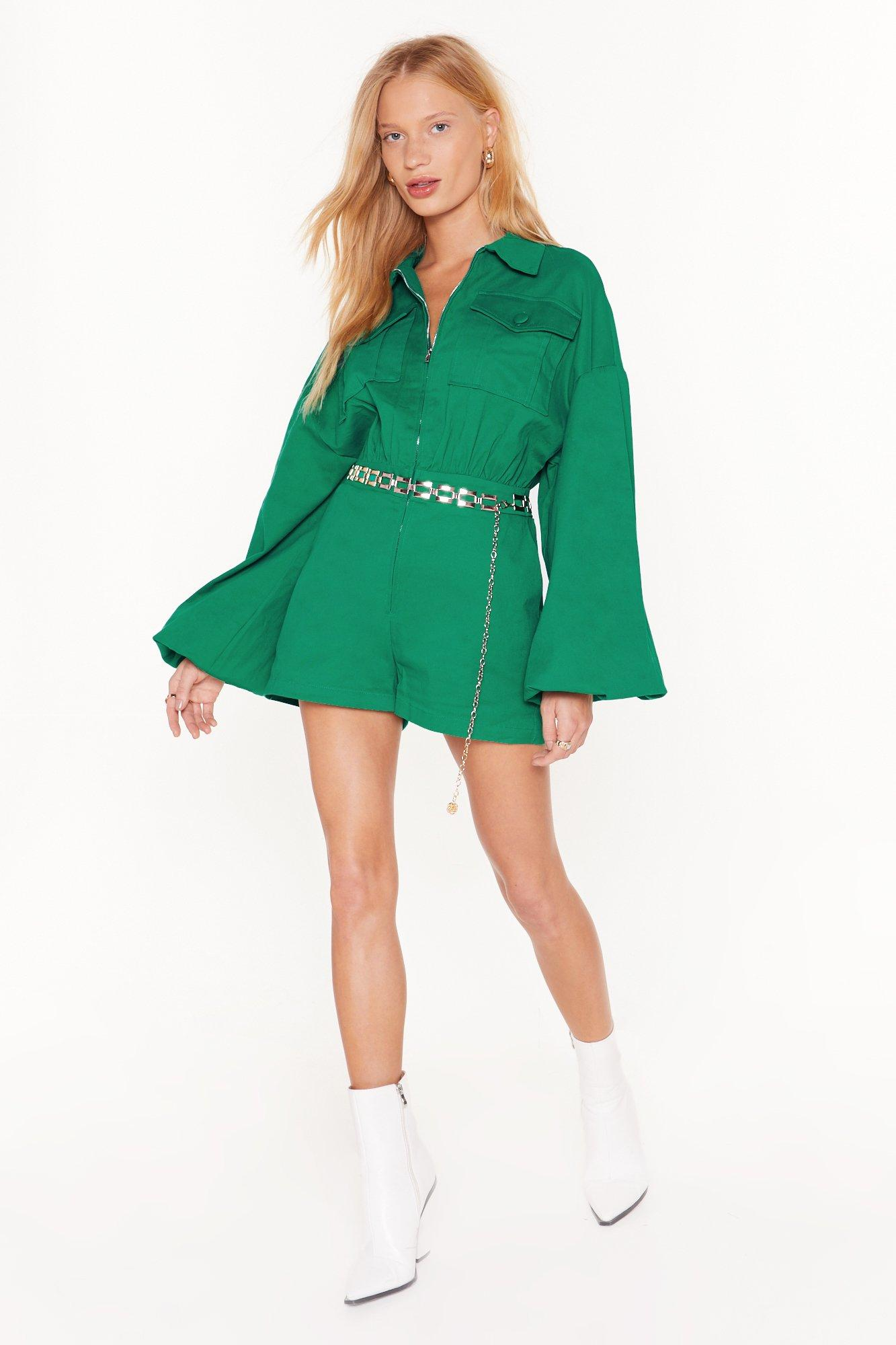 Image of Sleeve 'Em to It Oversized Utility Romper