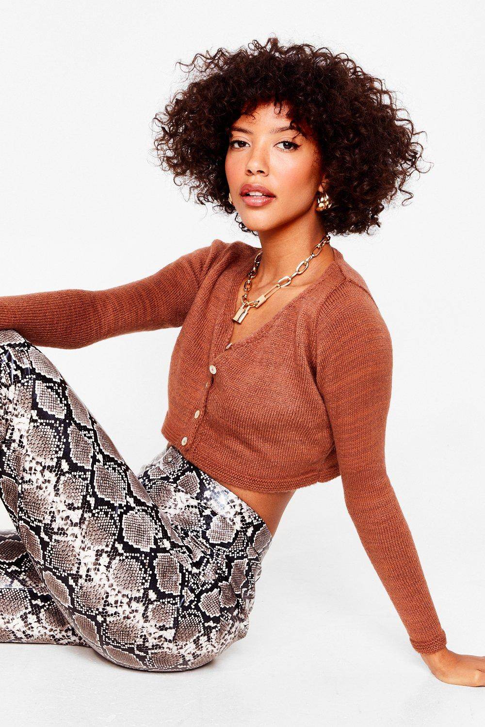 Image of To Be or Knit to Be Cropped Cardigan