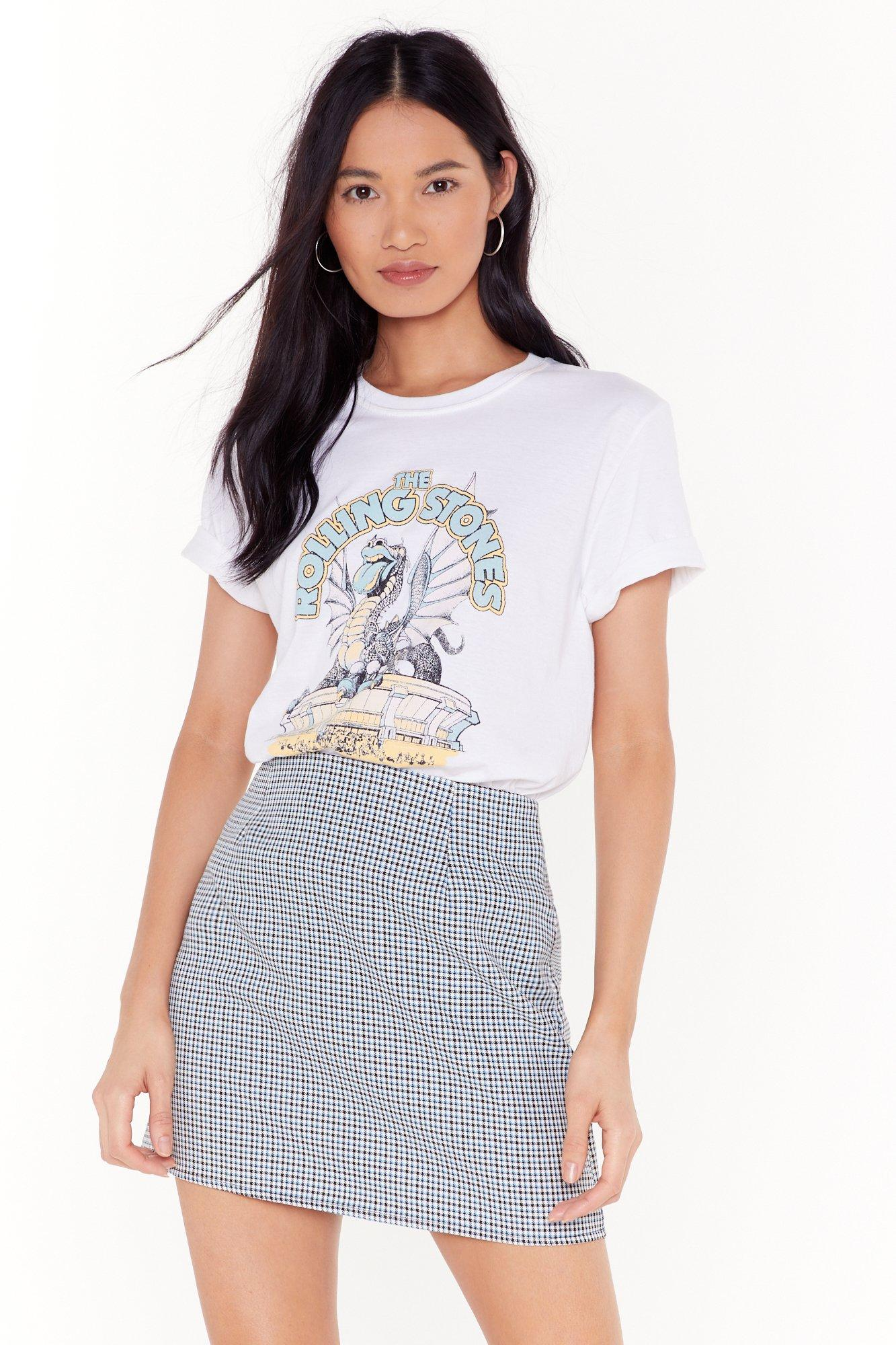 Image of Gimme Some Houndstooth Mini Skirt