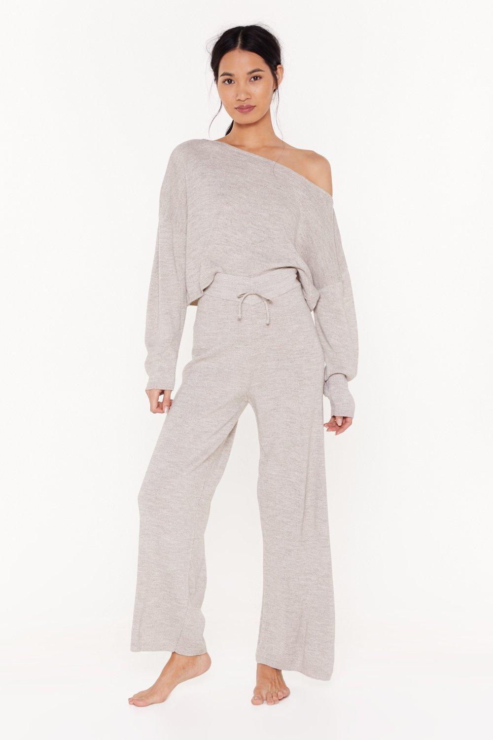Image of Slow Down Sweater and Jogger Lounge Set