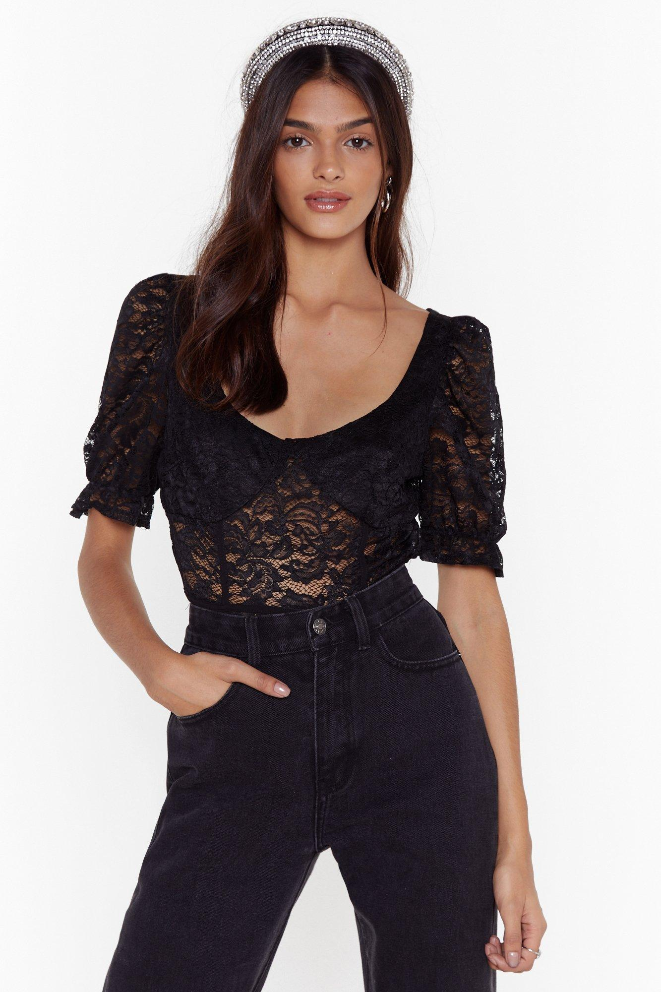 Image of It's All Cup to You Lace Bodysuit